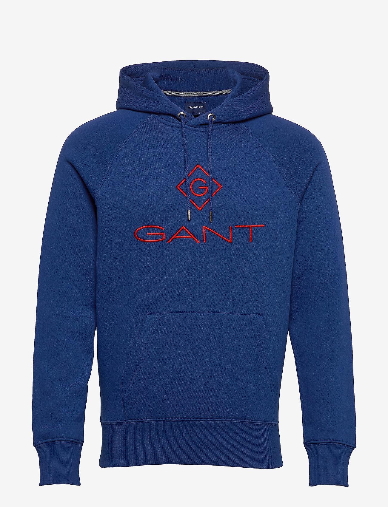 GANT - D1. COLOR LOCK UP HOODIE - hoodies - crisp blue - 0