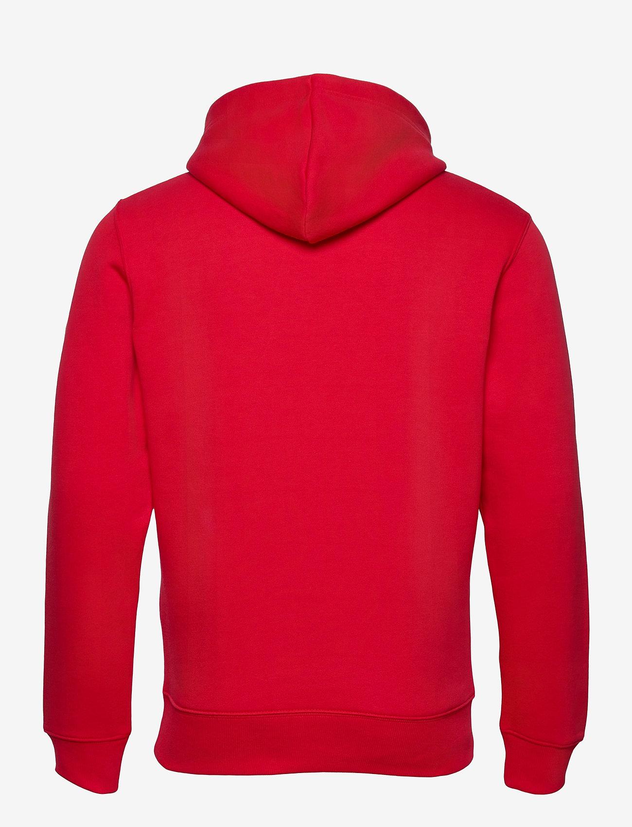 GANT D1. GANT CREST HOODIE - Sweatshirts BRIGHT RED - Menn Klær