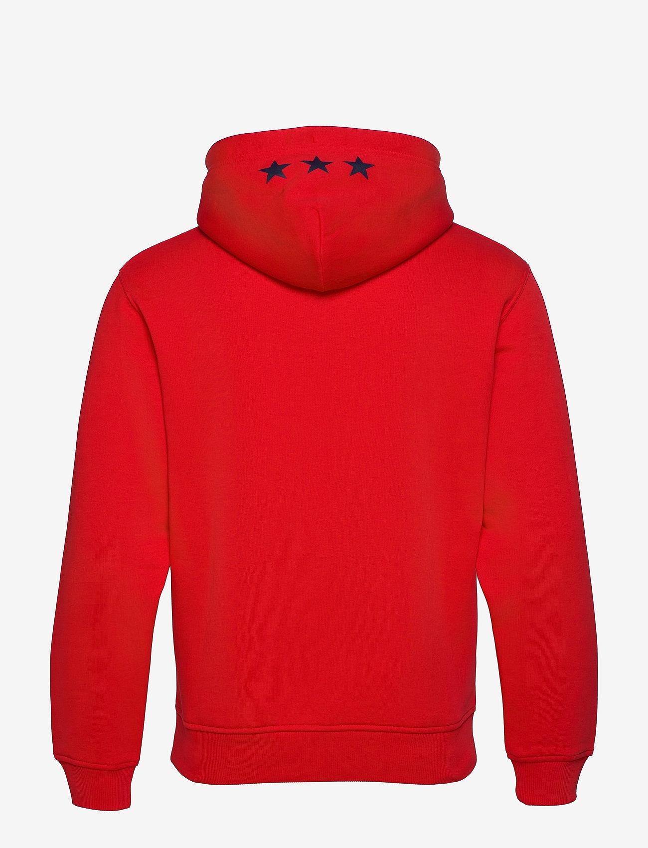 GANT - D2. GANT RETRO SHIELD SWEAT HOODIE - hoodies - bright red - 1