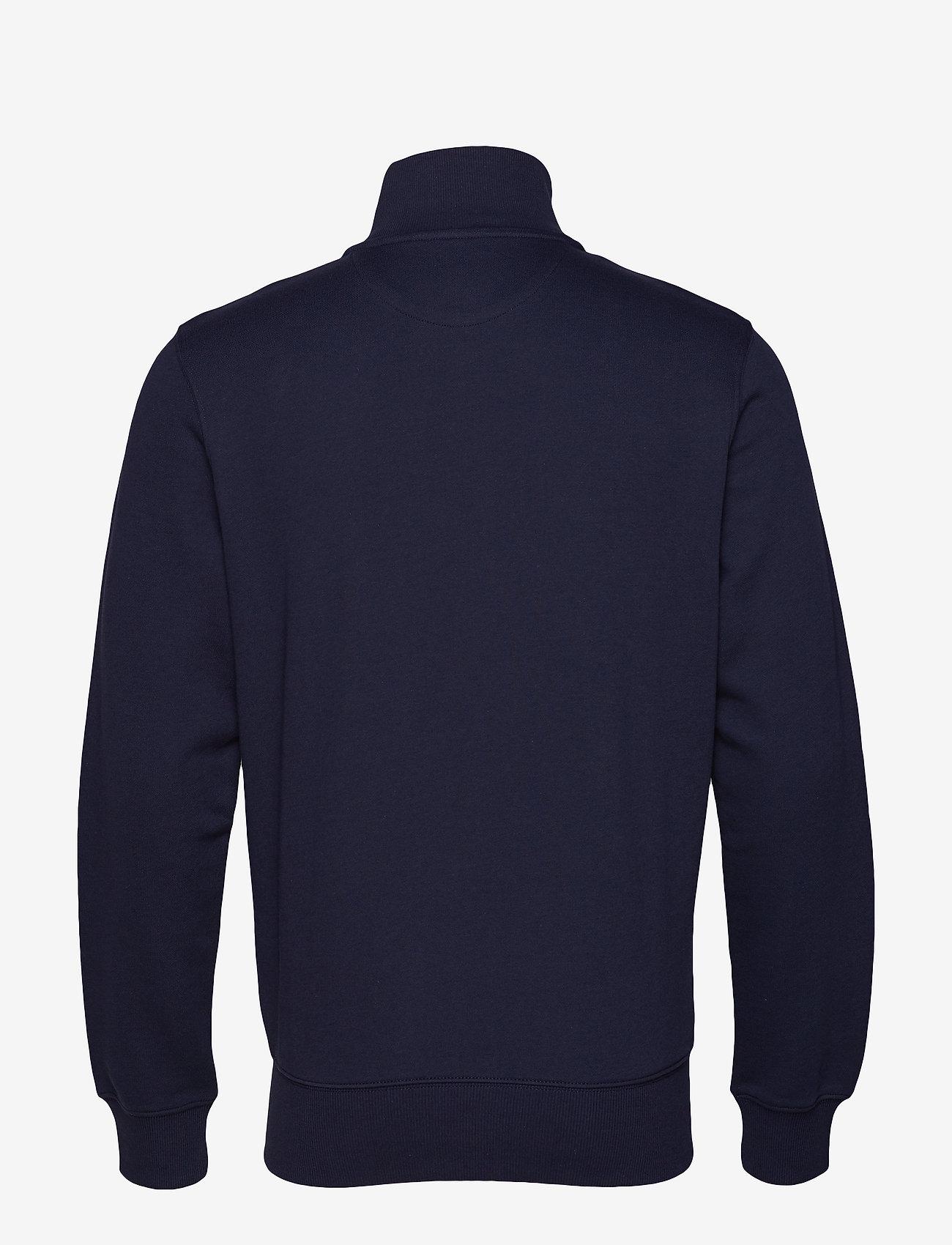 Gant - D1. GRAPHIC FULL ZIP CARDIGAN - svetarit - evening blue