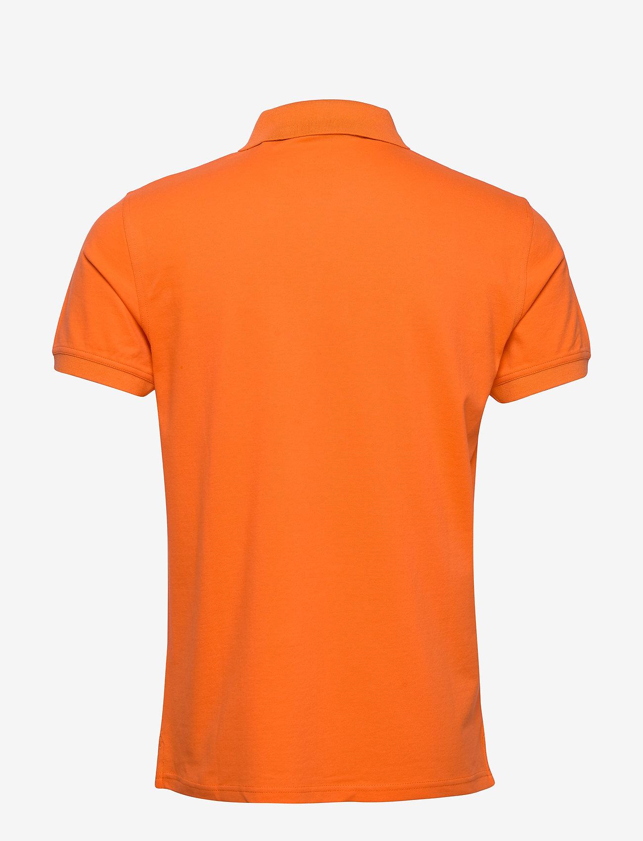 GANT - CONTRAST COLLAR PIQUE SS RUGGER - short-sleeved polos - sunny orange - 1