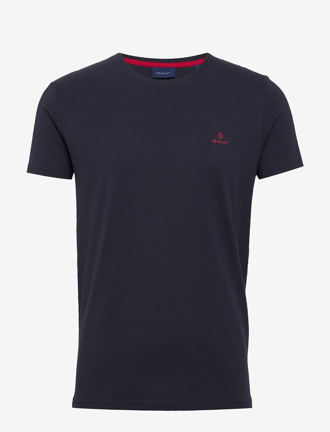 GANT - CONTRAST LOGO SS T-SHIRT - basic t-shirts - evening blue - 0
