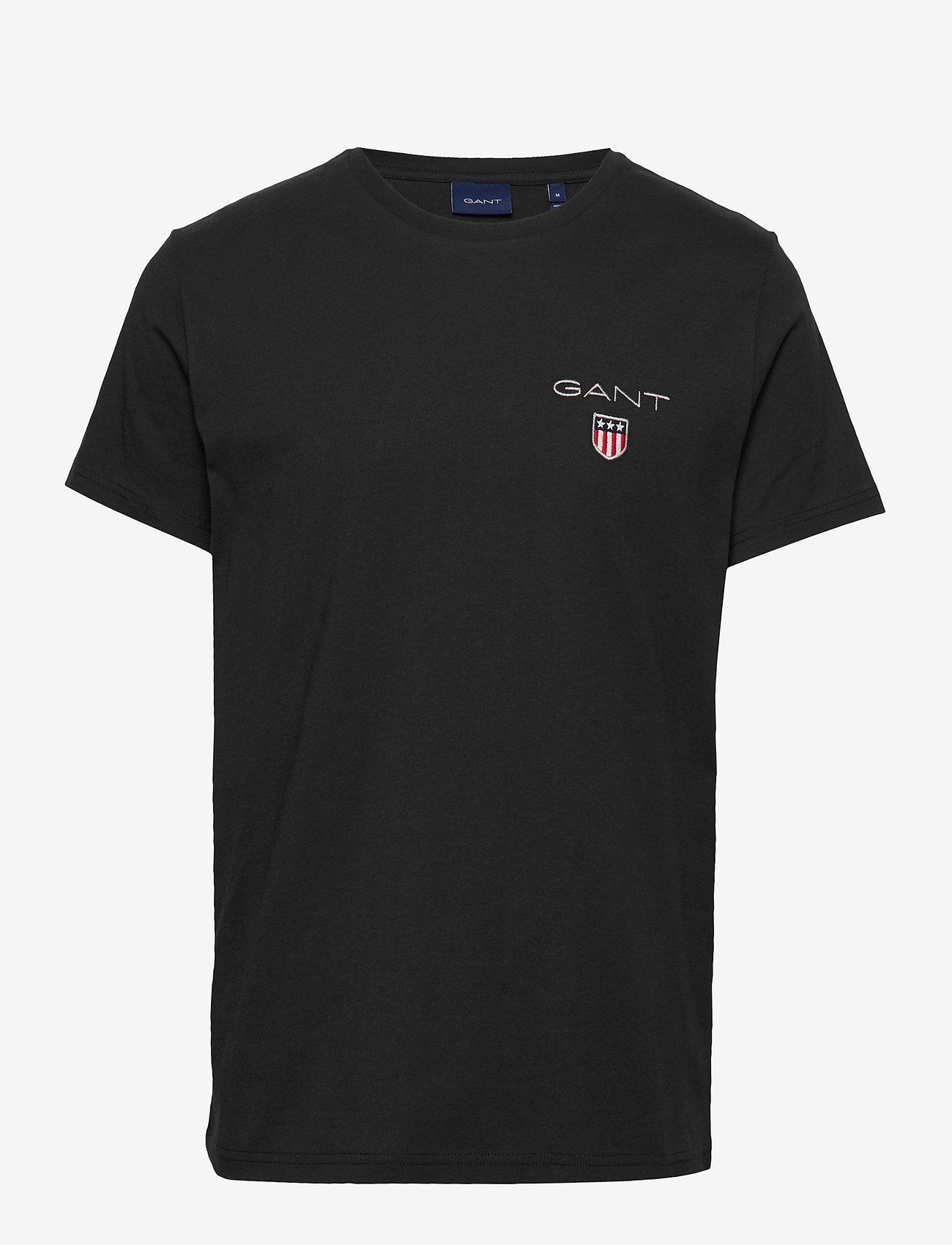 GANT - D1. MEDIUM SHIELD SS T-SHIRT - basic t-shirts - black - 0