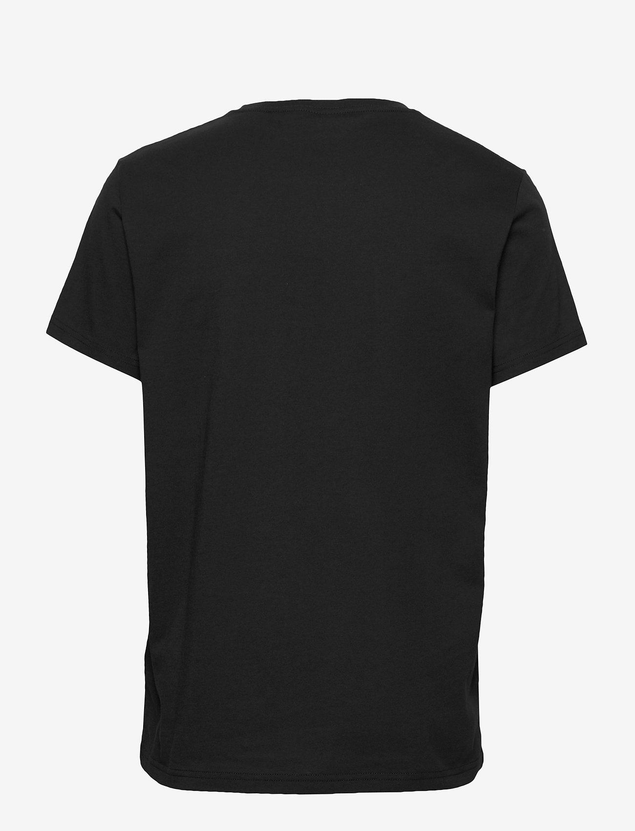 GANT - D1. MEDIUM SHIELD SS T-SHIRT - basic t-shirts - black - 1