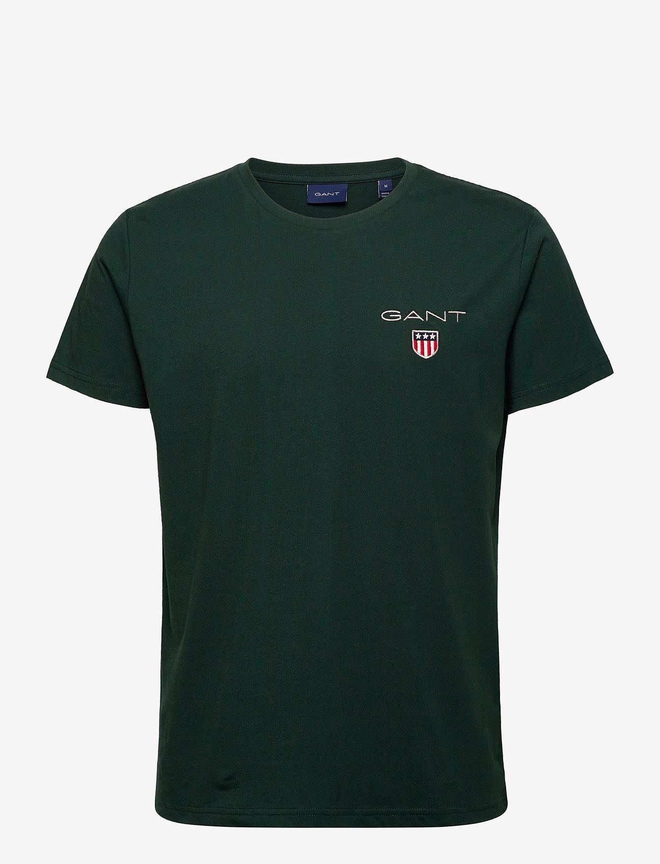 GANT - D1. MEDIUM SHIELD SS T-SHIRT - basic t-shirts - tartan green - 0