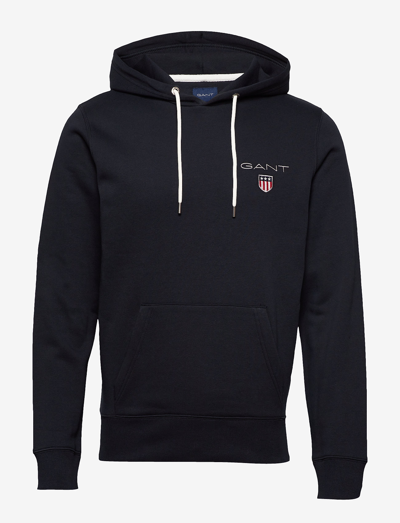 GANT - D1. MEDIUM SHIELD HOODIE - basic sweatshirts - black - 0