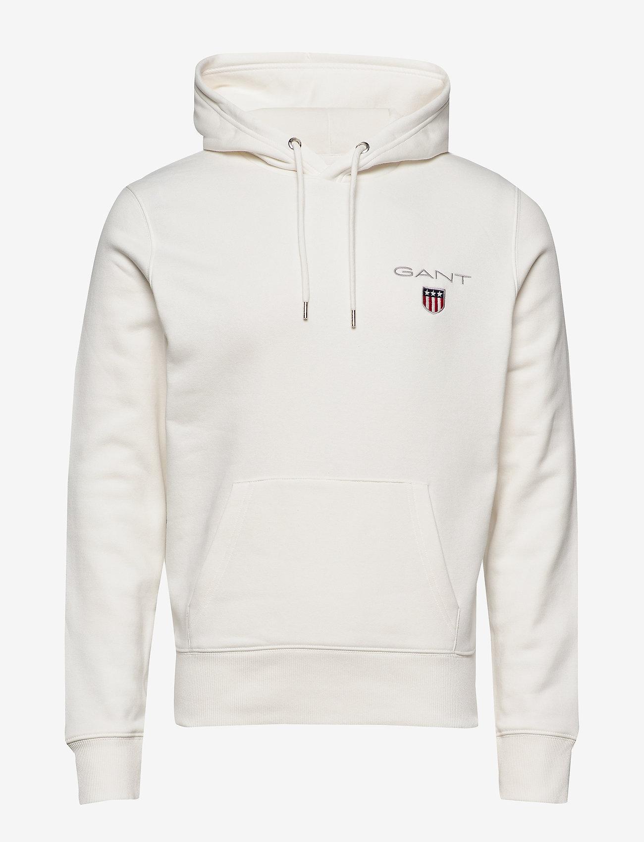 GANT - D1. MEDIUM SHIELD HOODIE - basic sweatshirts - eggshell - 0