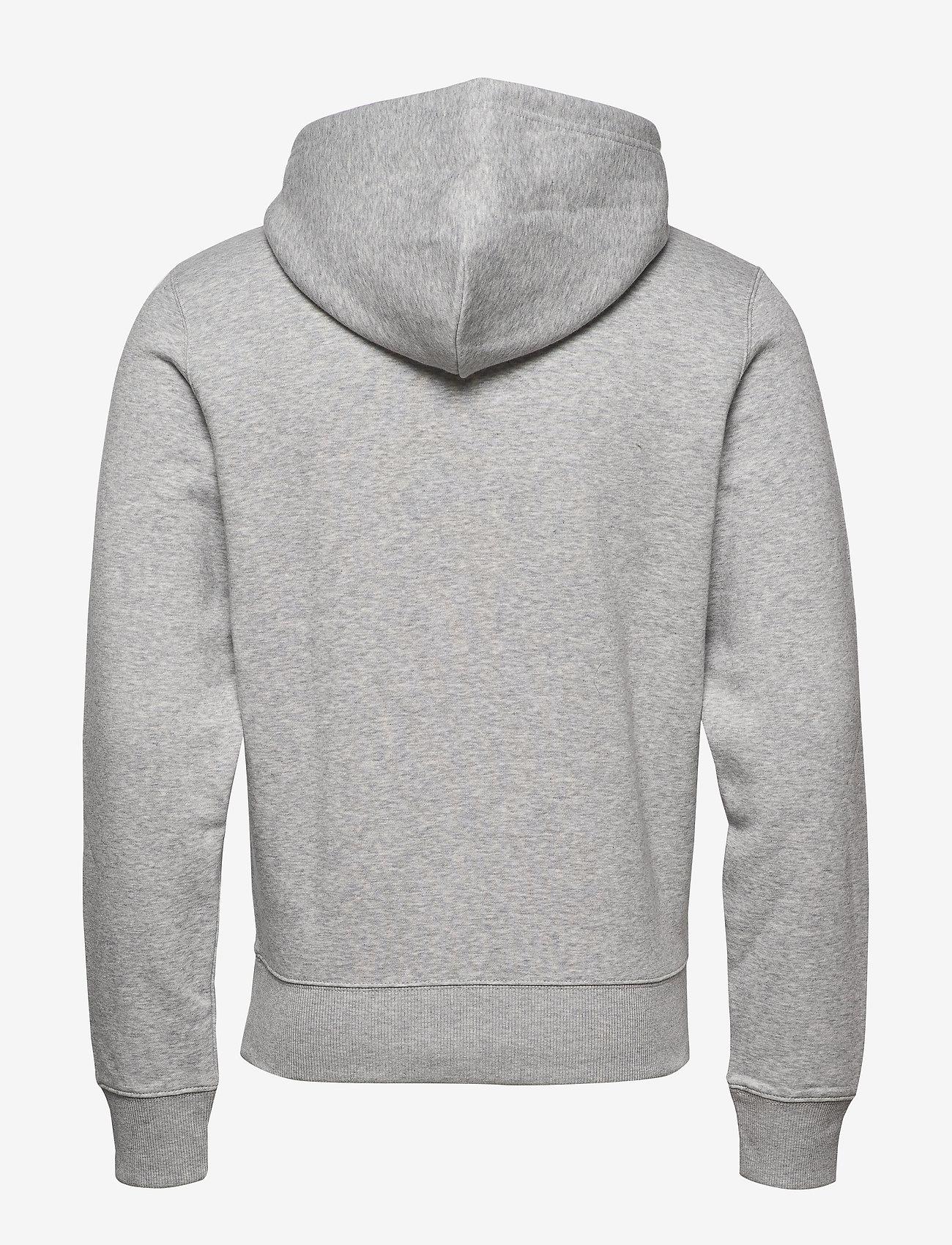 GANT - D1. MEDIUM SHIELD HOODIE - basic sweatshirts - light grey melange - 1
