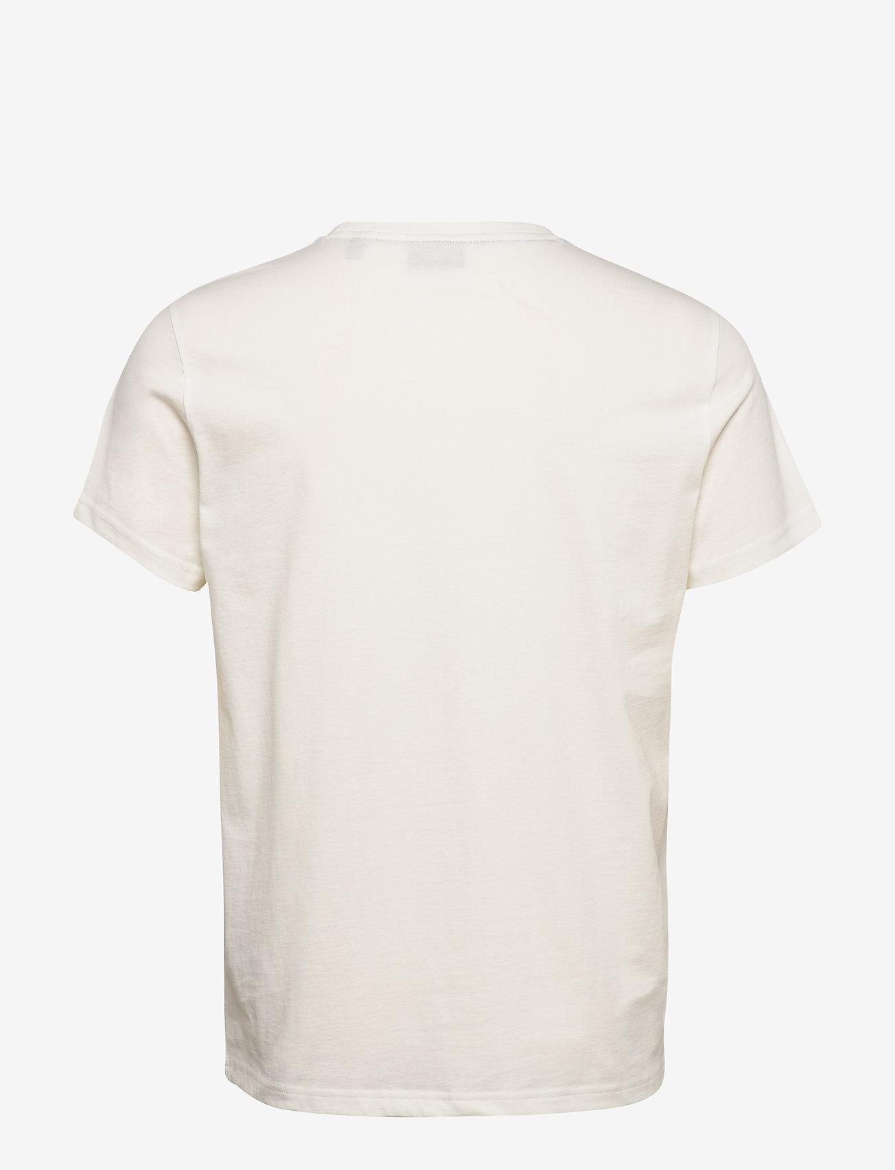 GANT - D1. COLOR LOCK UP SS T-SHIRT - short-sleeved t-shirts - eggshell - 1