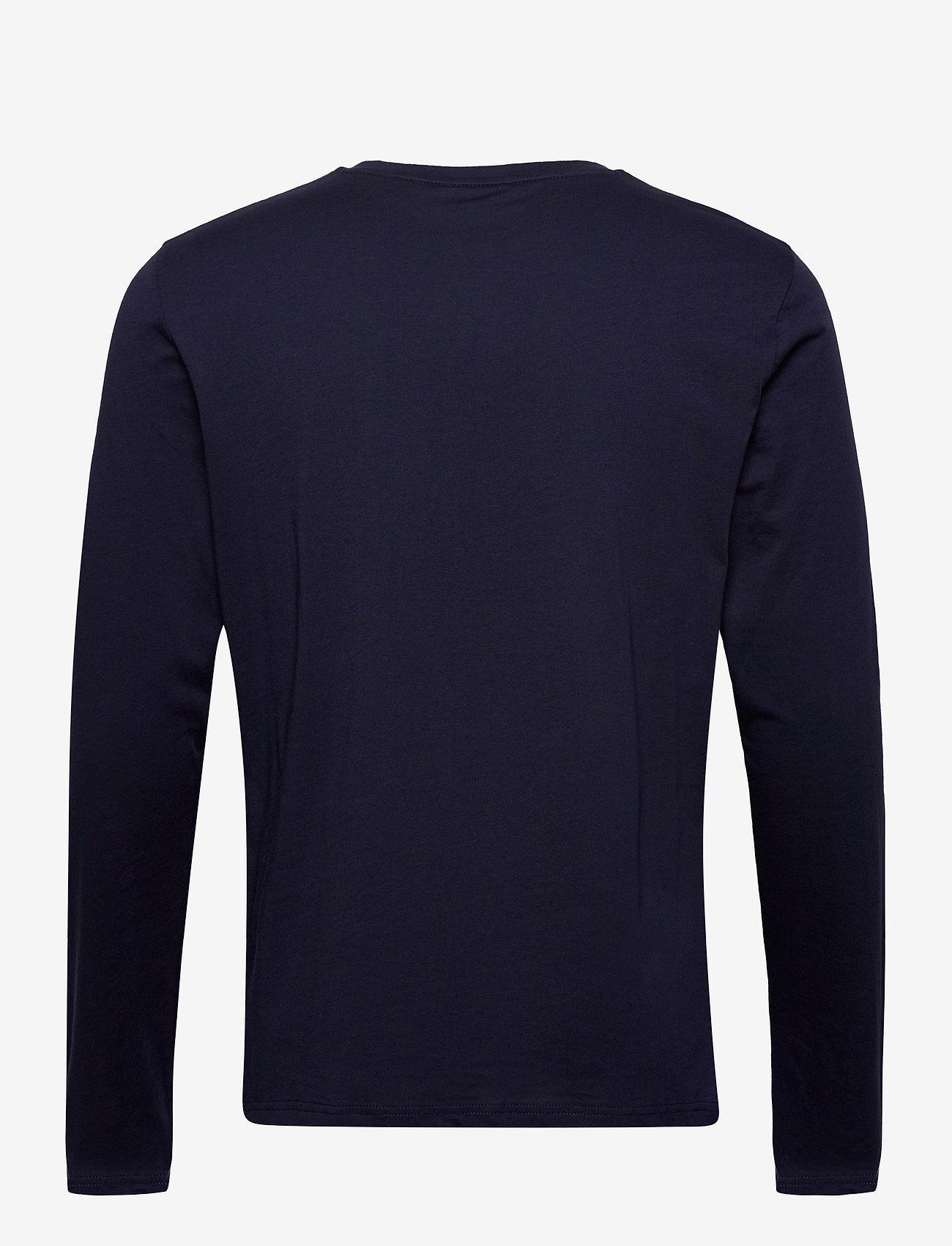 GANT GANT LOCK UP LS T-SHIRT - T-skjorter EVENING BLUE - Menn Klær