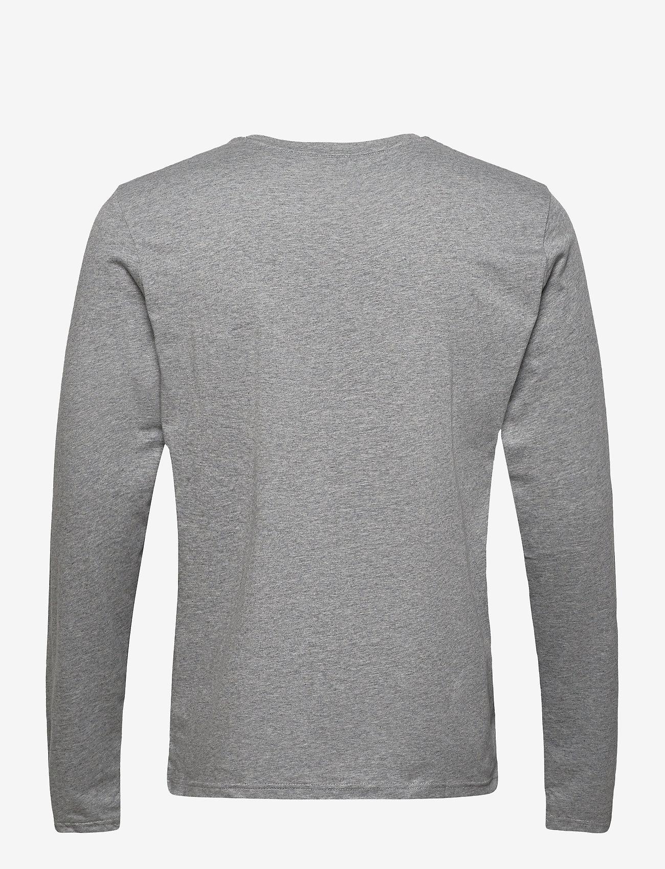 GANT GANT LOCK UP LS T-SHIRT - T-skjorter GREY MELANGE - Menn Klær