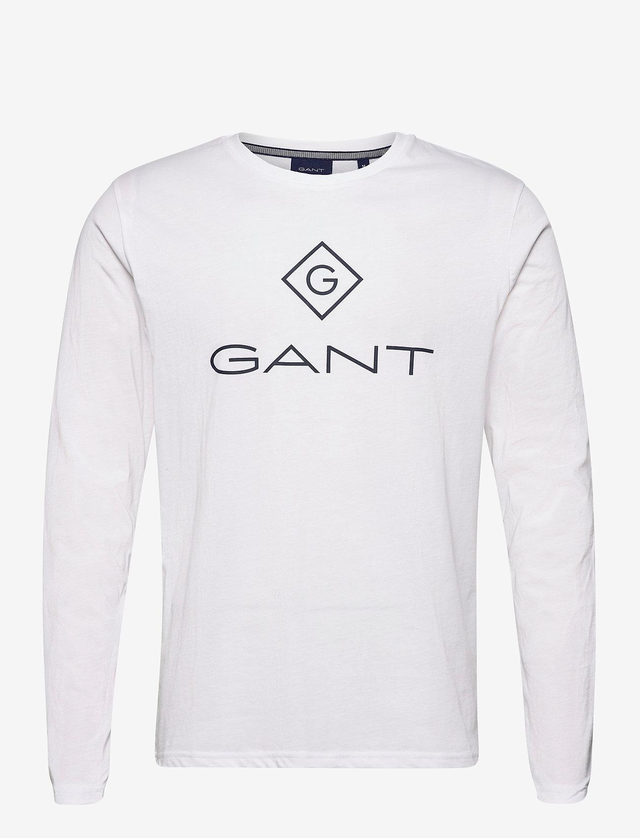 GANT - GANT LOCK UP LS T-SHIRT - long-sleeved t-shirts - white - 0