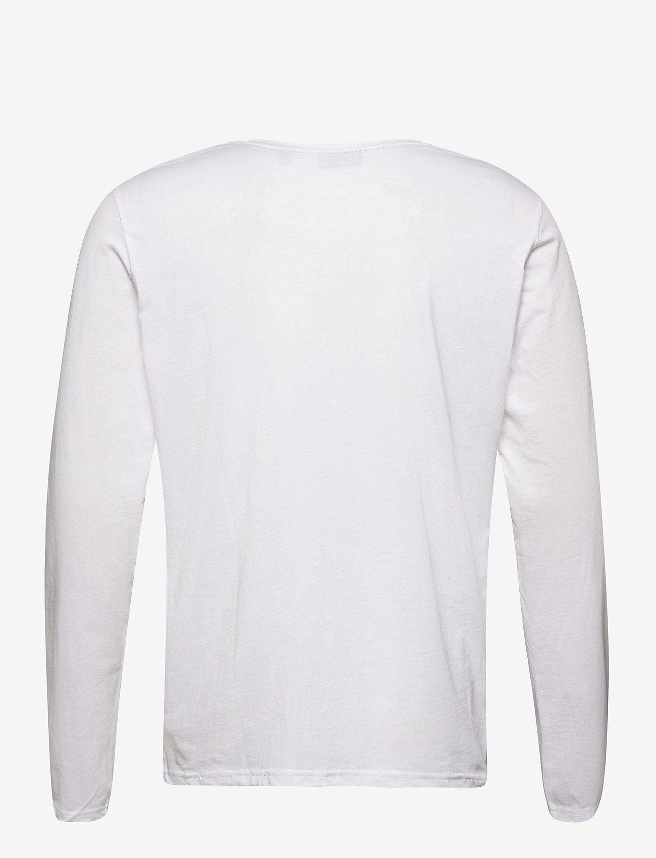 GANT - GANT LOCK UP LS T-SHIRT - long-sleeved t-shirts - white - 1