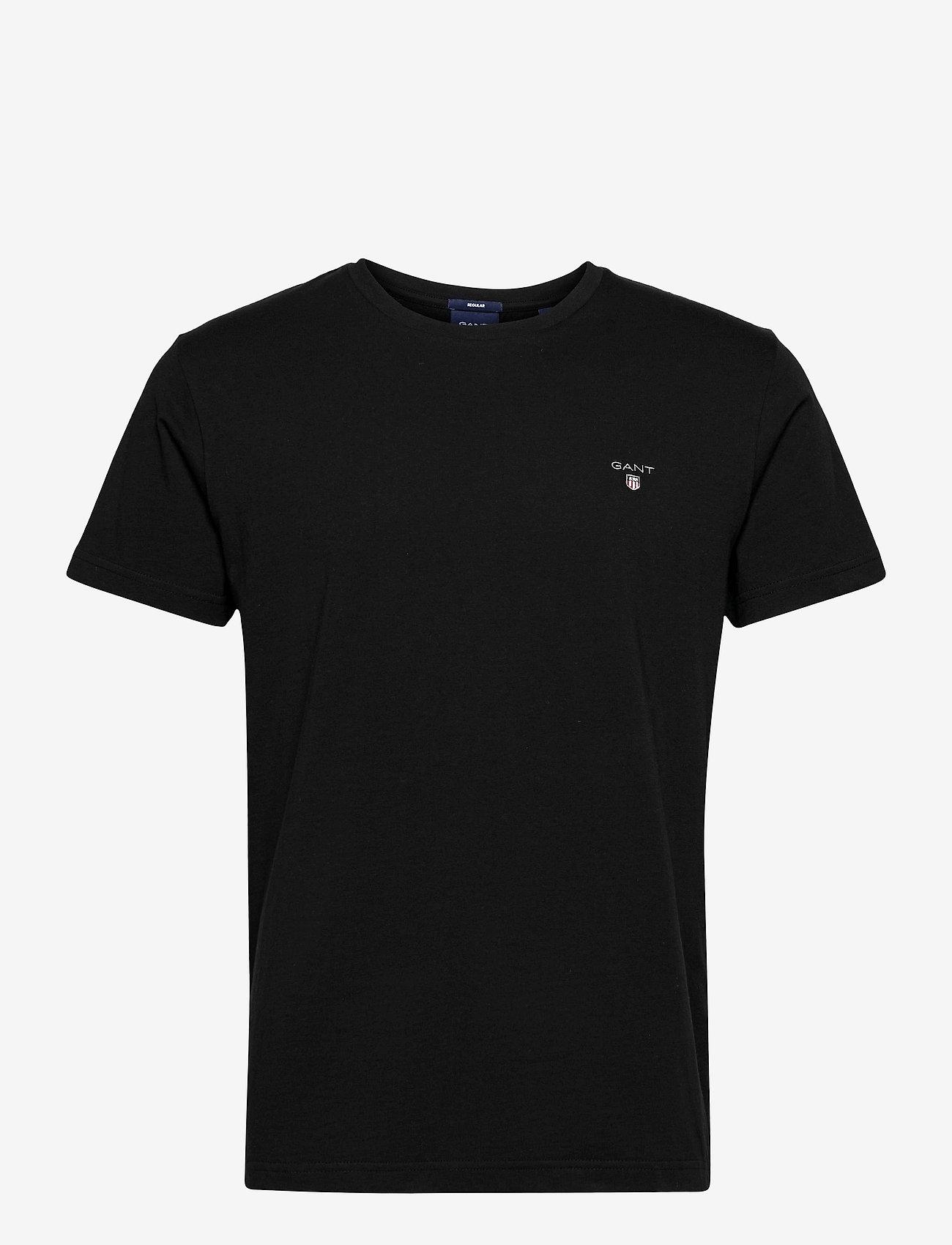 GANT - ORIGINAL SS T-SHIRT - basic t-shirts - black - 0