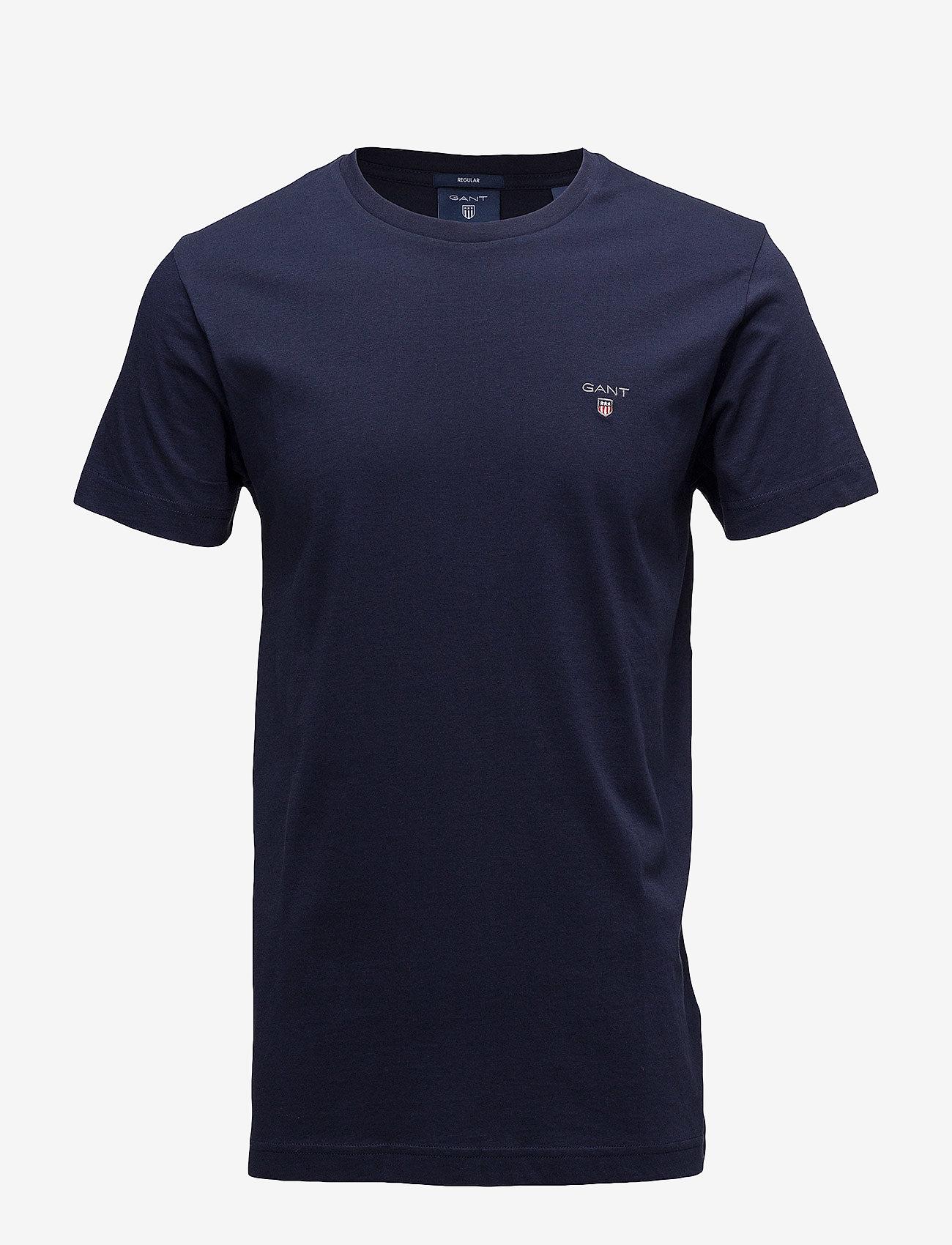 GANT - ORIGINAL SS T-SHIRT - short-sleeved t-shirts - evening blue - 0