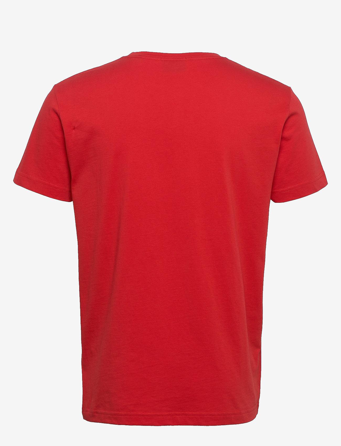 GANT - ORIGINAL SS T-SHIRT - short-sleeved t-shirts - fiery red - 1