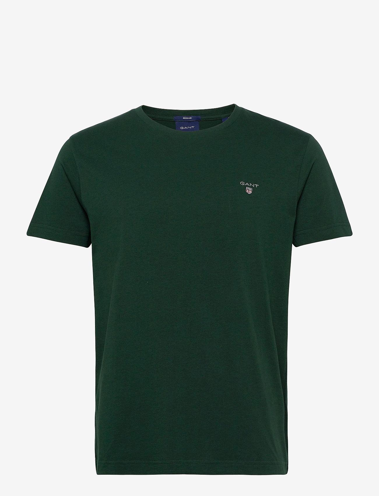 GANT - ORIGINAL SS T-SHIRT - short-sleeved t-shirts - tartan green - 0