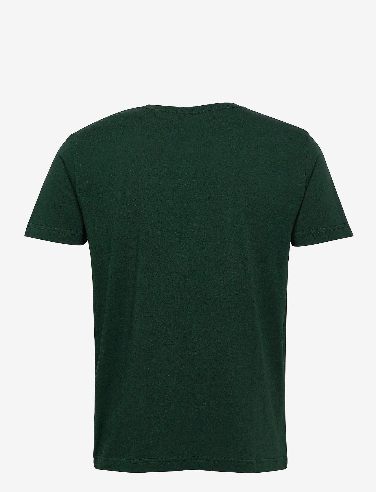 GANT - ORIGINAL SS T-SHIRT - short-sleeved t-shirts - tartan green - 1