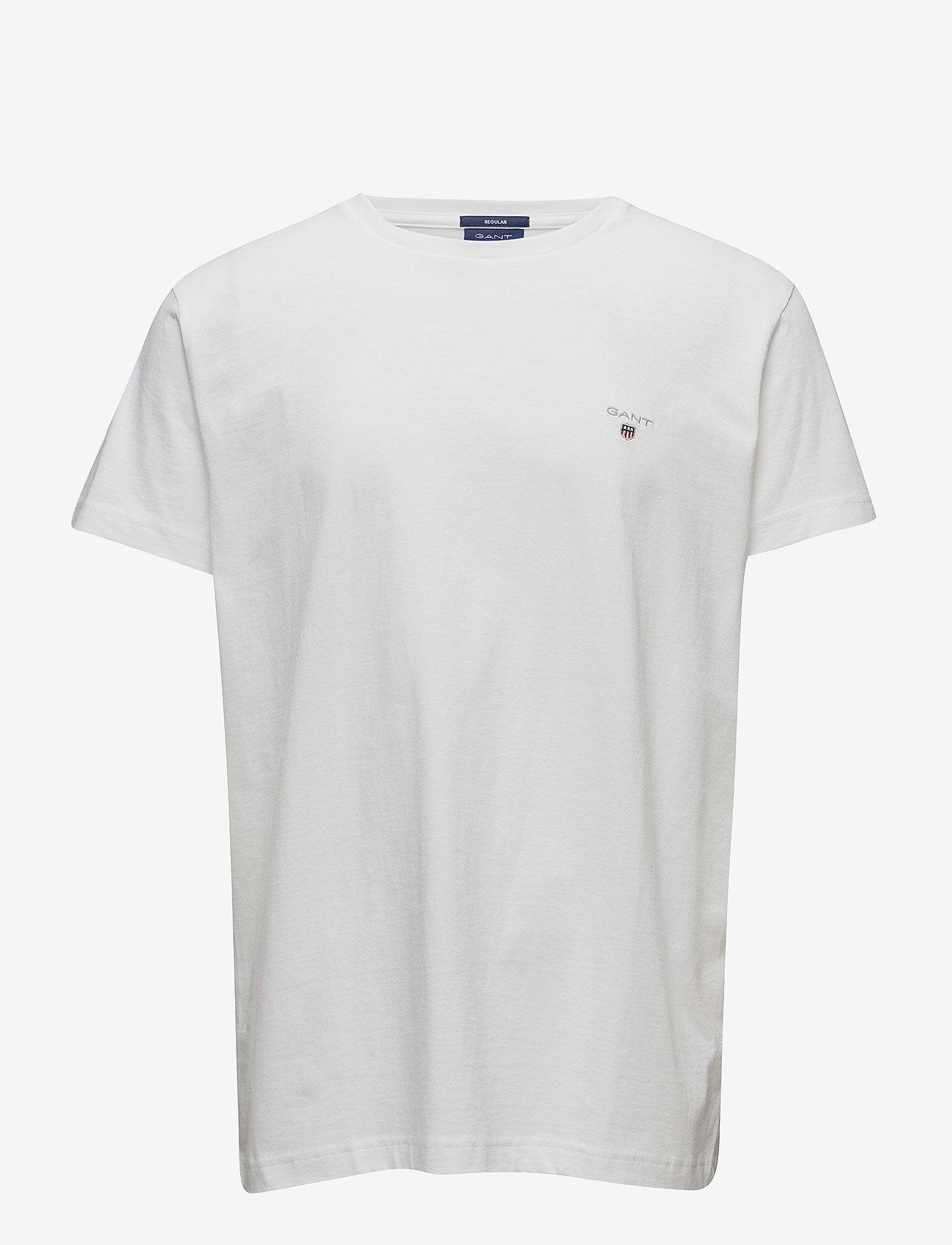 Gant - ORIGINAL SS T-SHIRT - kortermede t-skjorter - white - 0