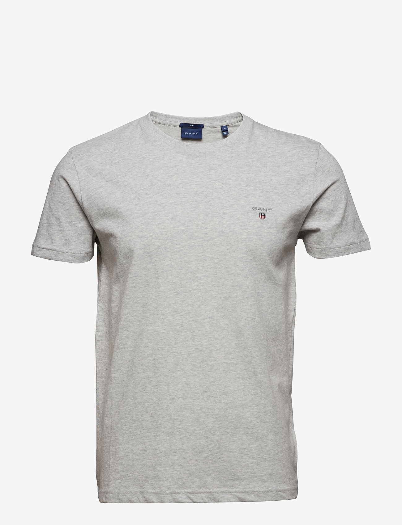 GANT - ORIGINAL SLIM T-SHIRT - basic t-shirts - light grey melange - 0