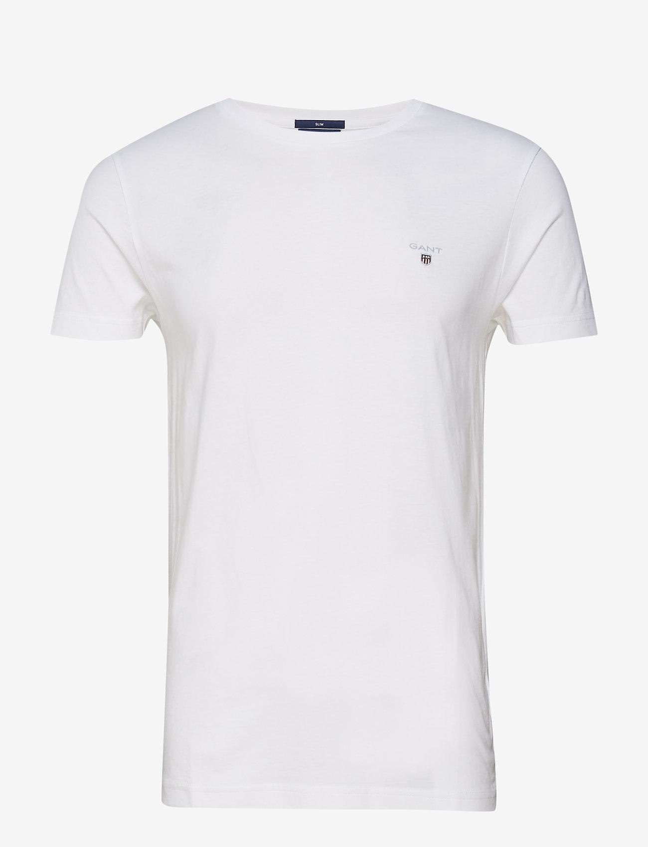 GANT - ORIGINAL SLIM T-SHIRT - basic t-shirts - white - 0