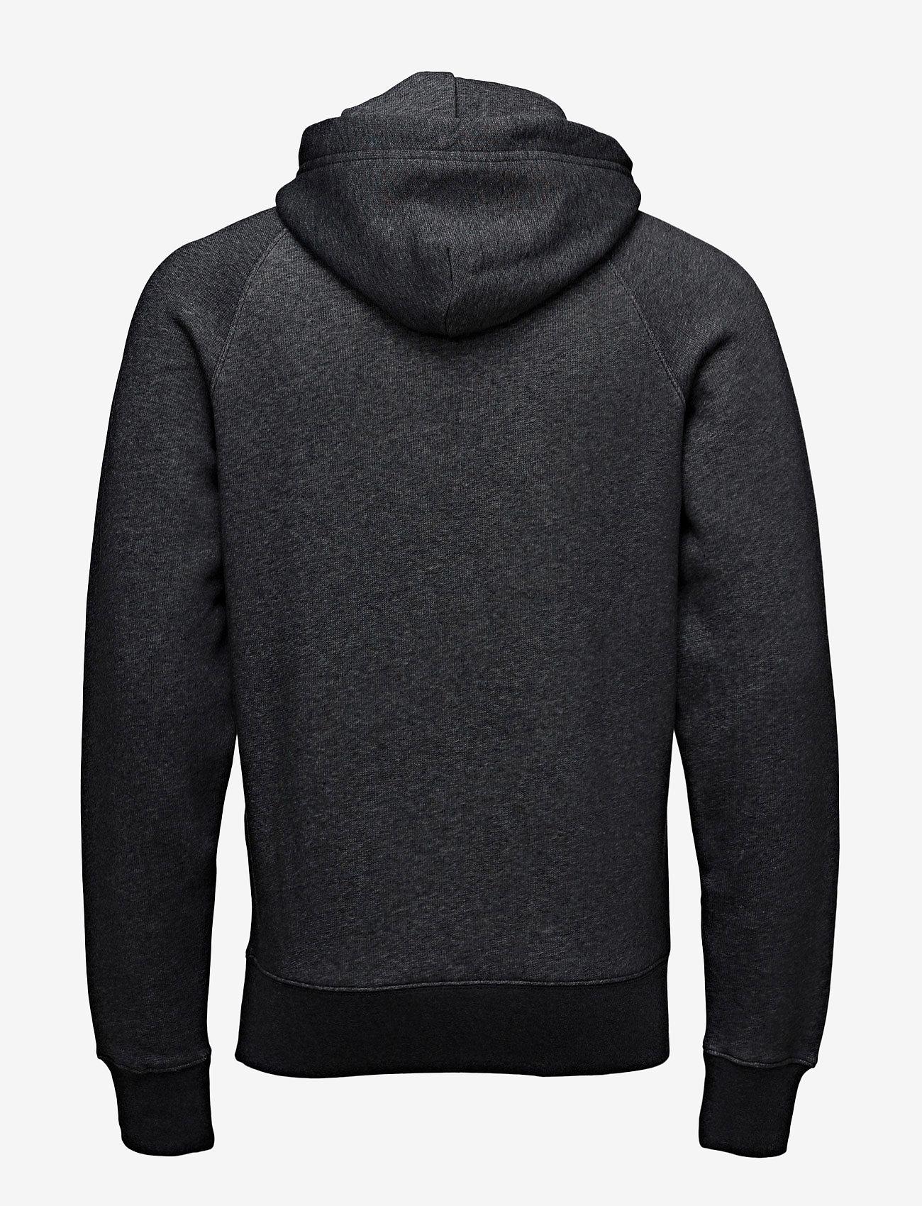 Gant - SHIELD HOODIE - hoodies - dark antracit melange