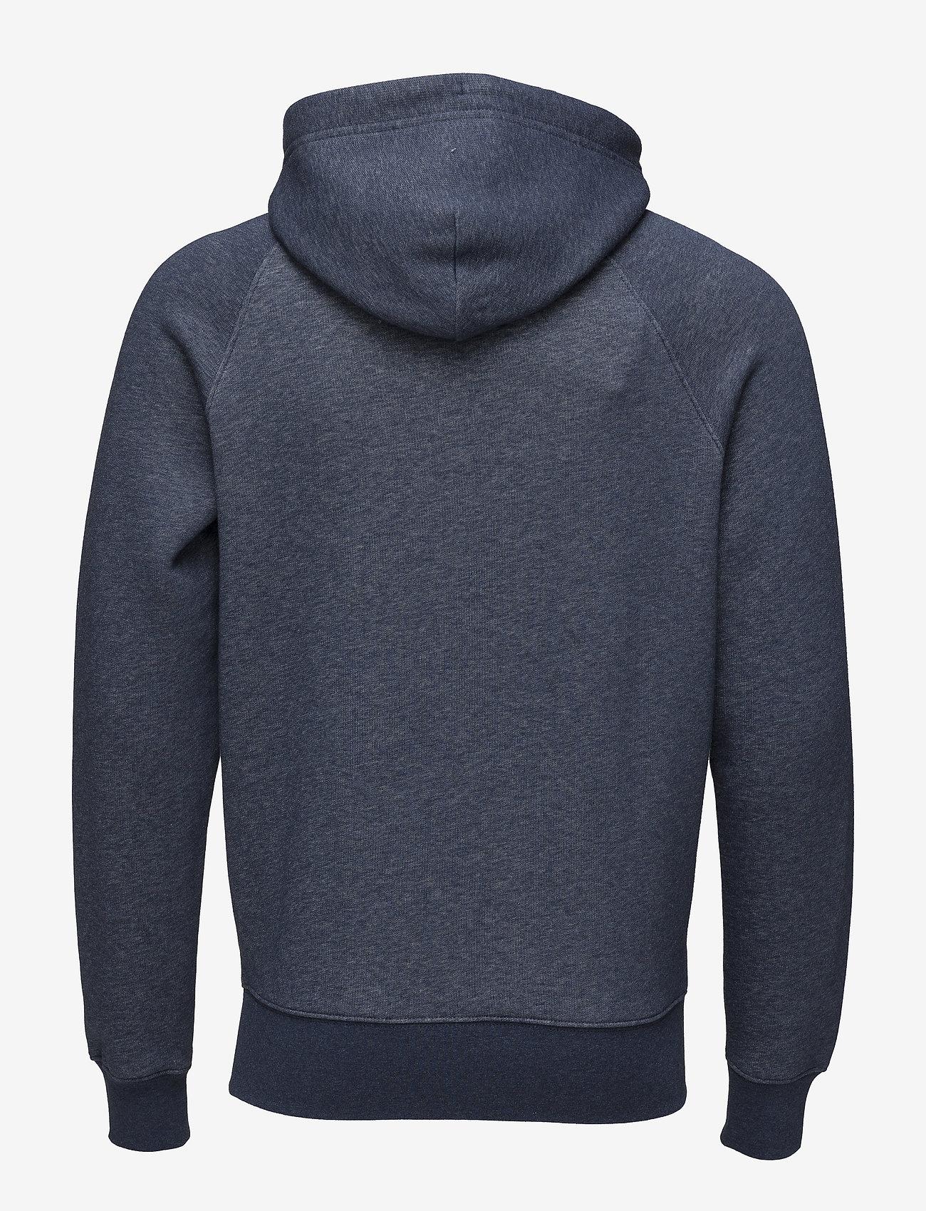 GANT - SHIELD HOODIE - hoodies - dark jeansblue melange - 1