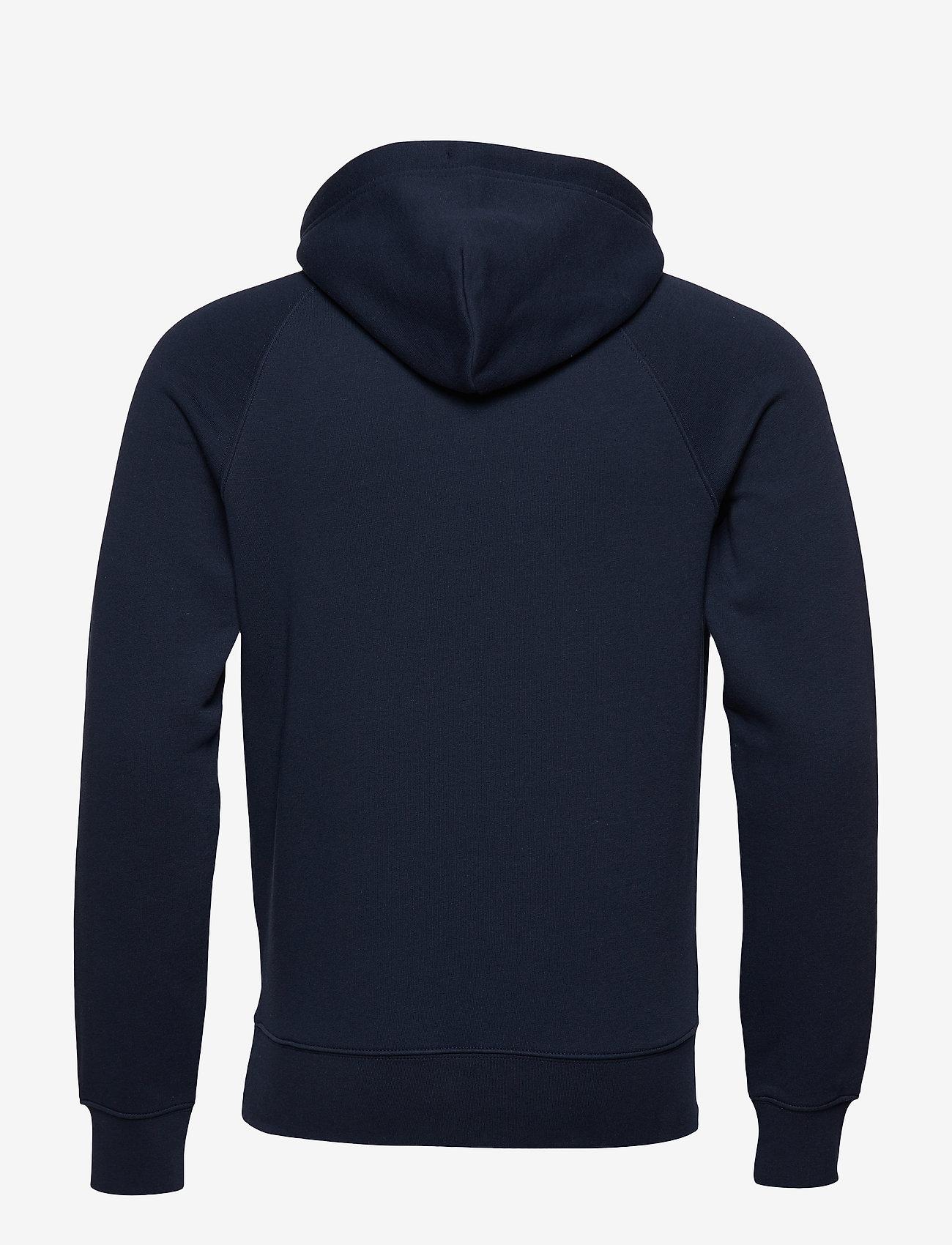 GANT - SHIELD HOODIE - kapuzenpullover - evening blue - 1