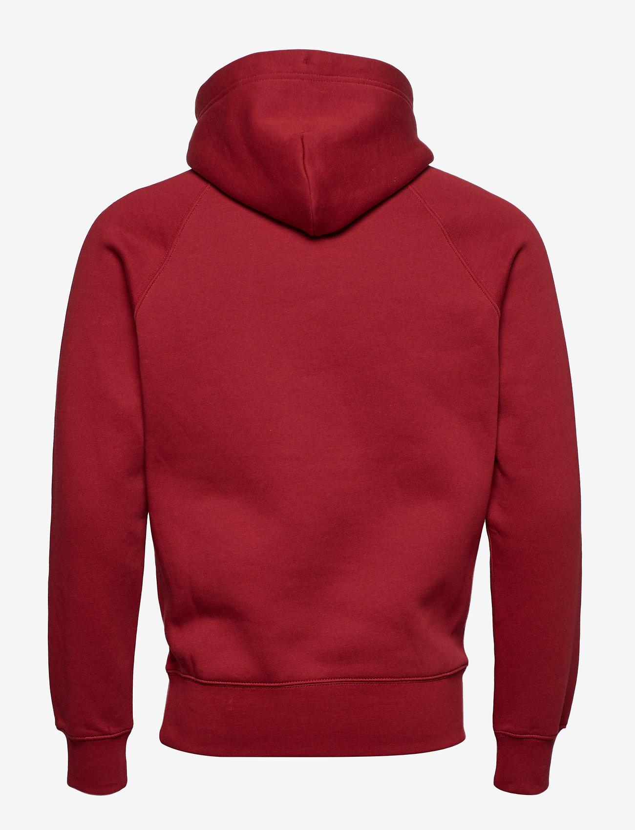 GANT - SHIELD HOODIE - hoodies - mahogany red - 1