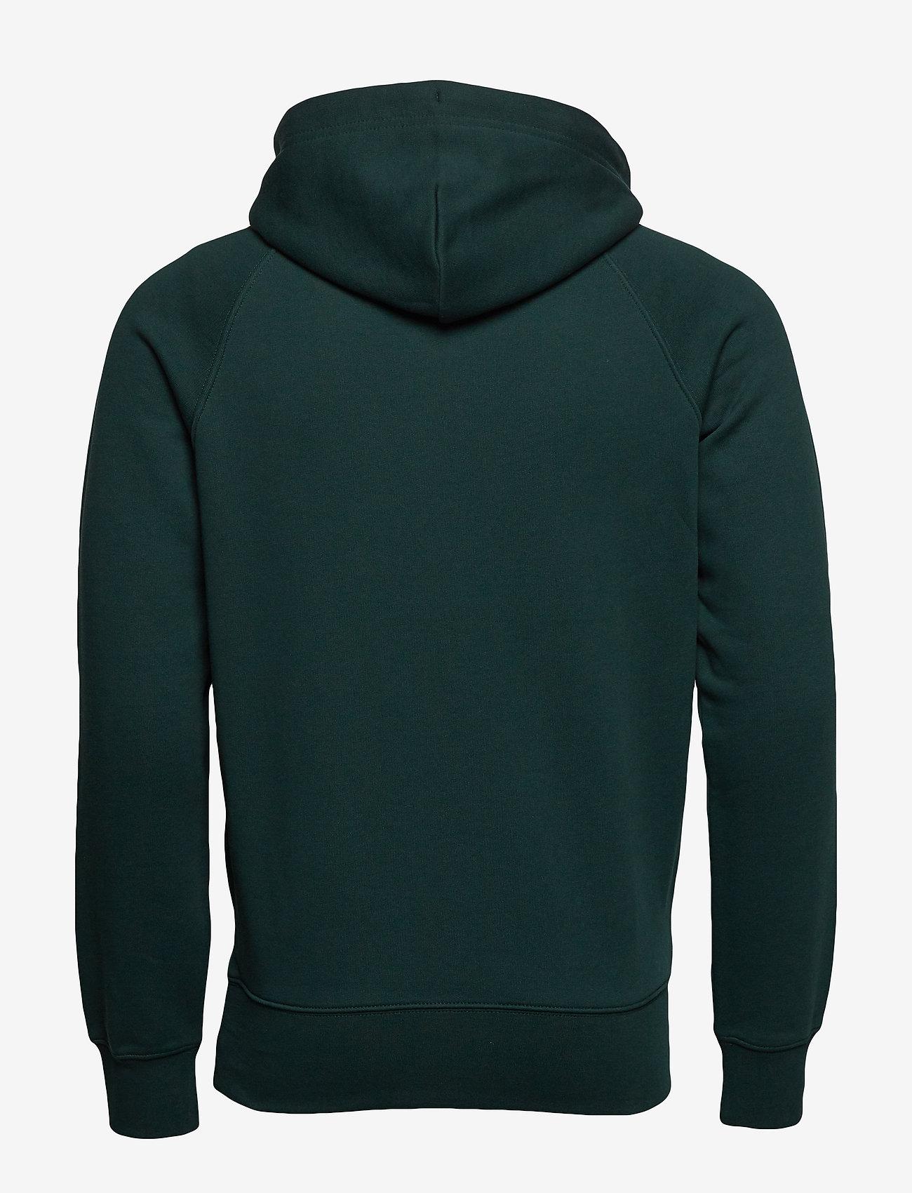 GANT - SHIELD HOODIE - hoodies - tartan green - 1