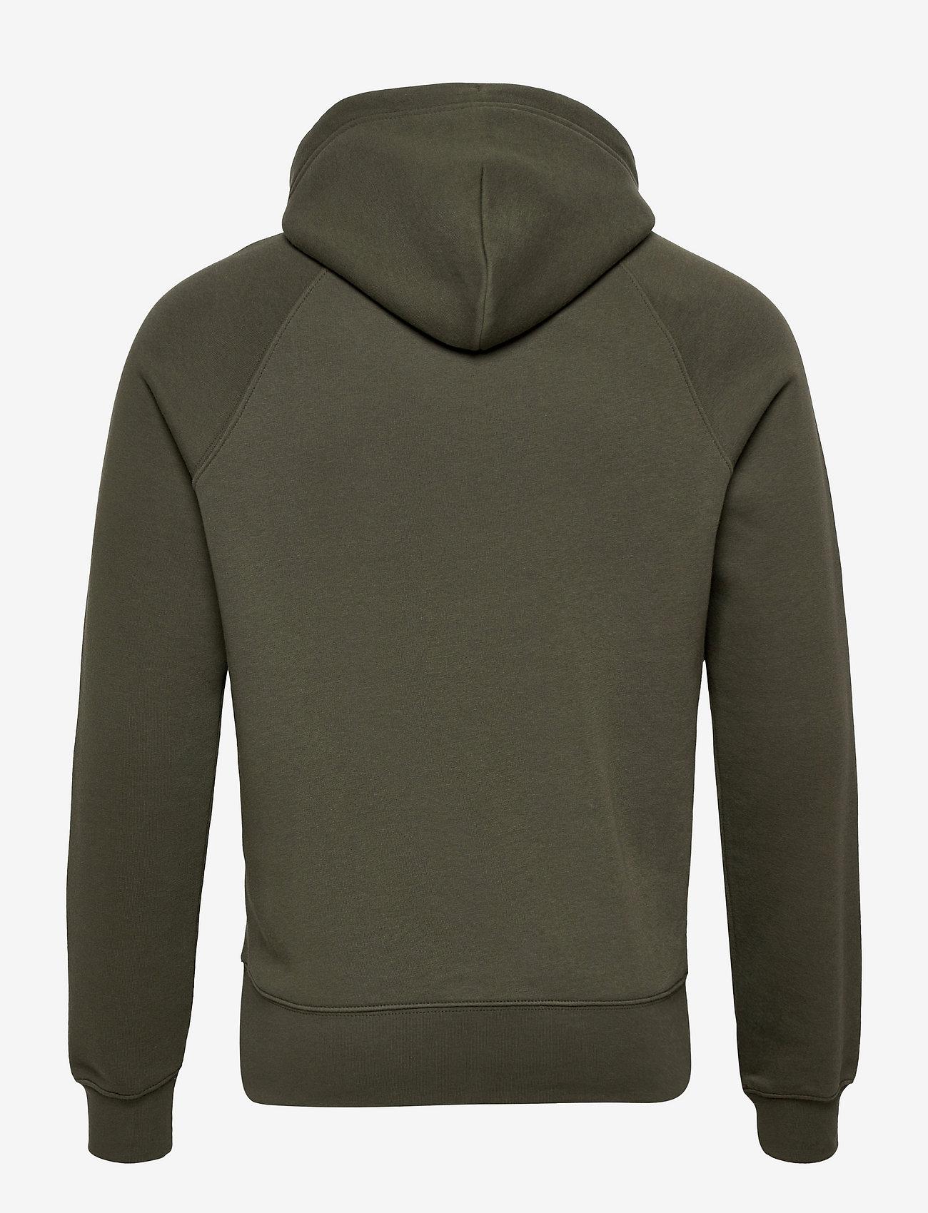 GANT - SHIELD HOODIE - hoodies - thyme green - 1