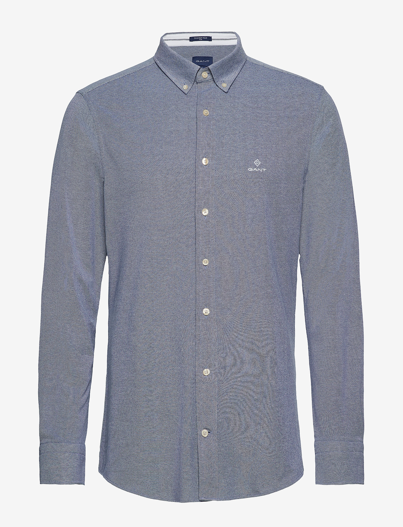 GANT - TP SLIM PIQUE BD - basic shirts - persian blue - 0