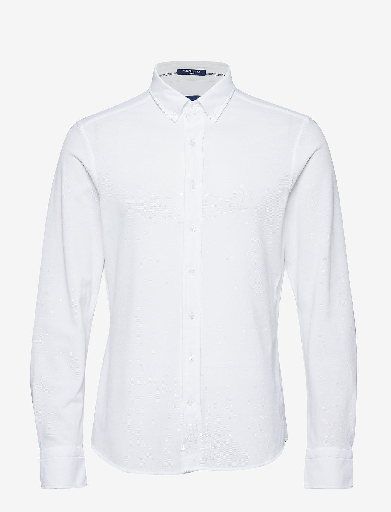 GANT - TP SLIM PIQUE BD - basic shirts - white - 0