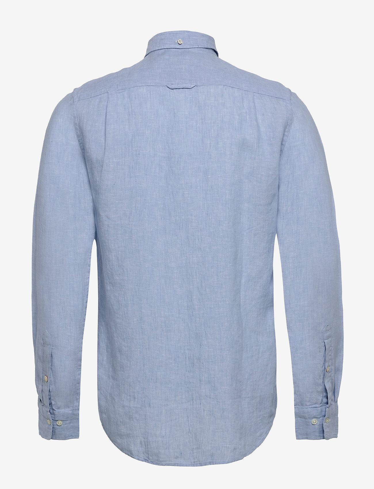 GANT - SLIM LINEN SHIRT BD - basic-hemden - capri blue - 1