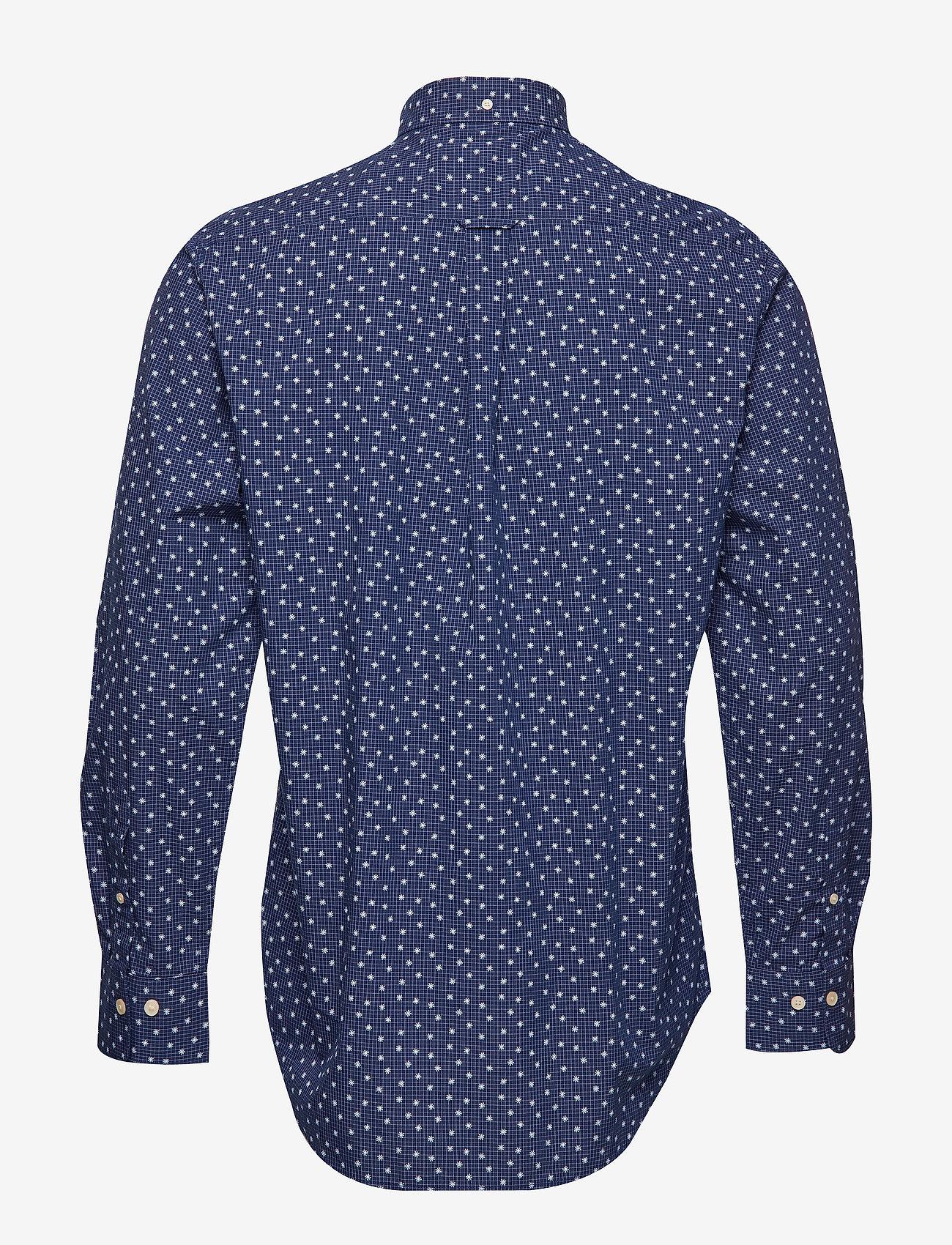 O1. Yarn Dye Print Reg Bd (Marine) (719.40 kr) - GANT