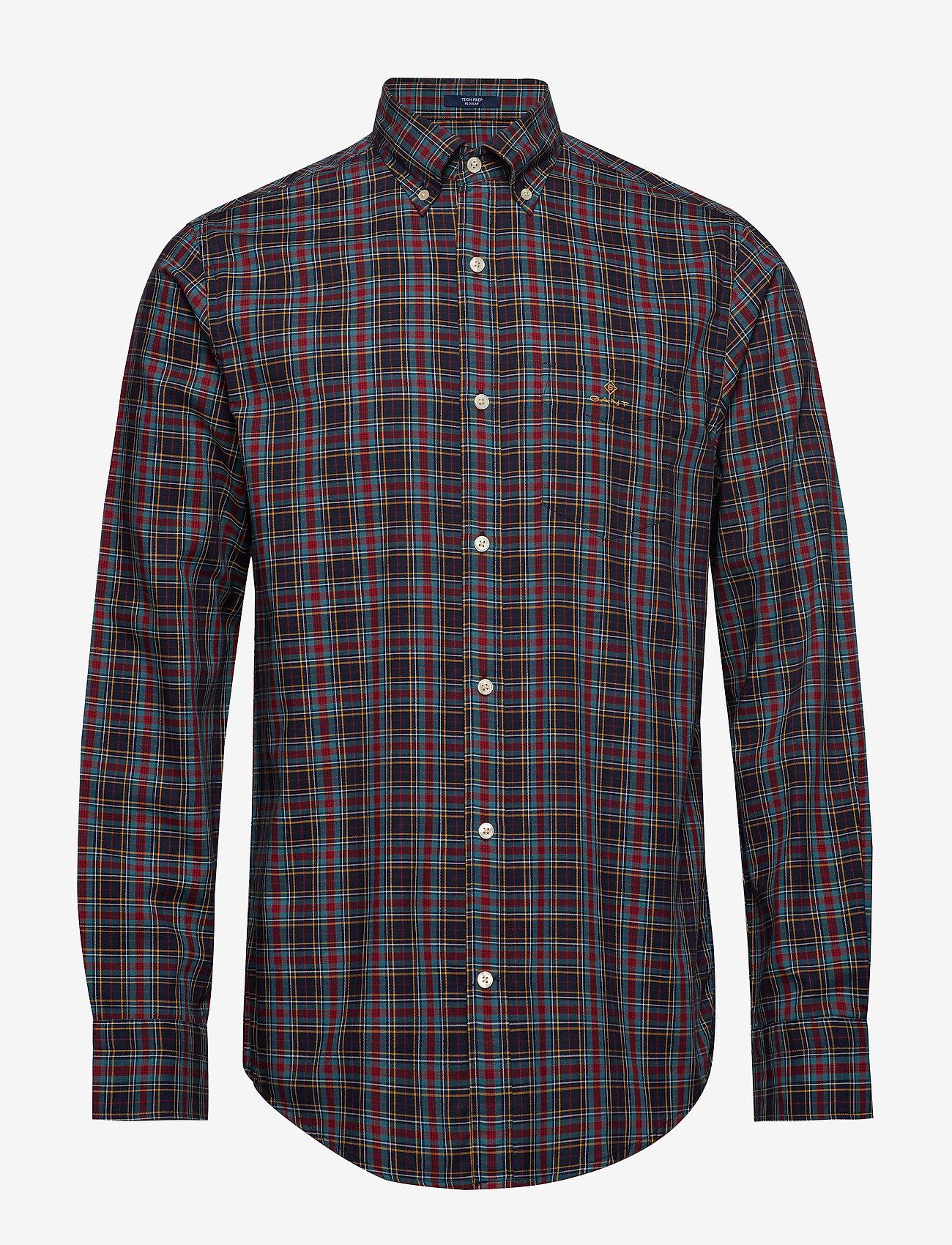 GANT - D2. TP OXFORD CHECK REG BD - rutiga skjortor - marine - 0