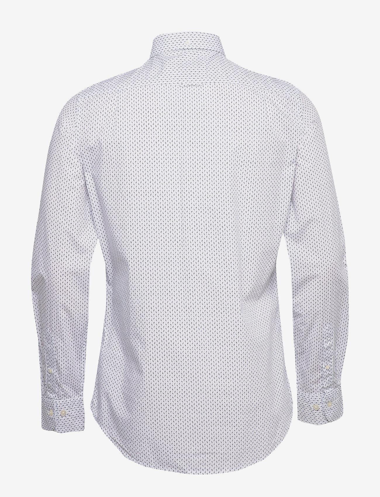 GANT D1. BC PRINT SLIM BD - Skjorter WHITE - Menn Klær