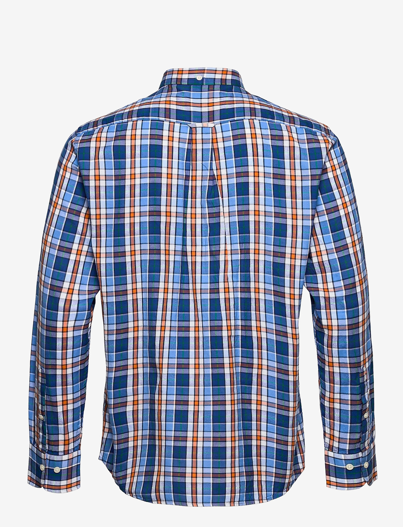 GANT - D1. WINDBLOWN OXFORD CHECK REG BD - oxford shirts - pacific blue - 1