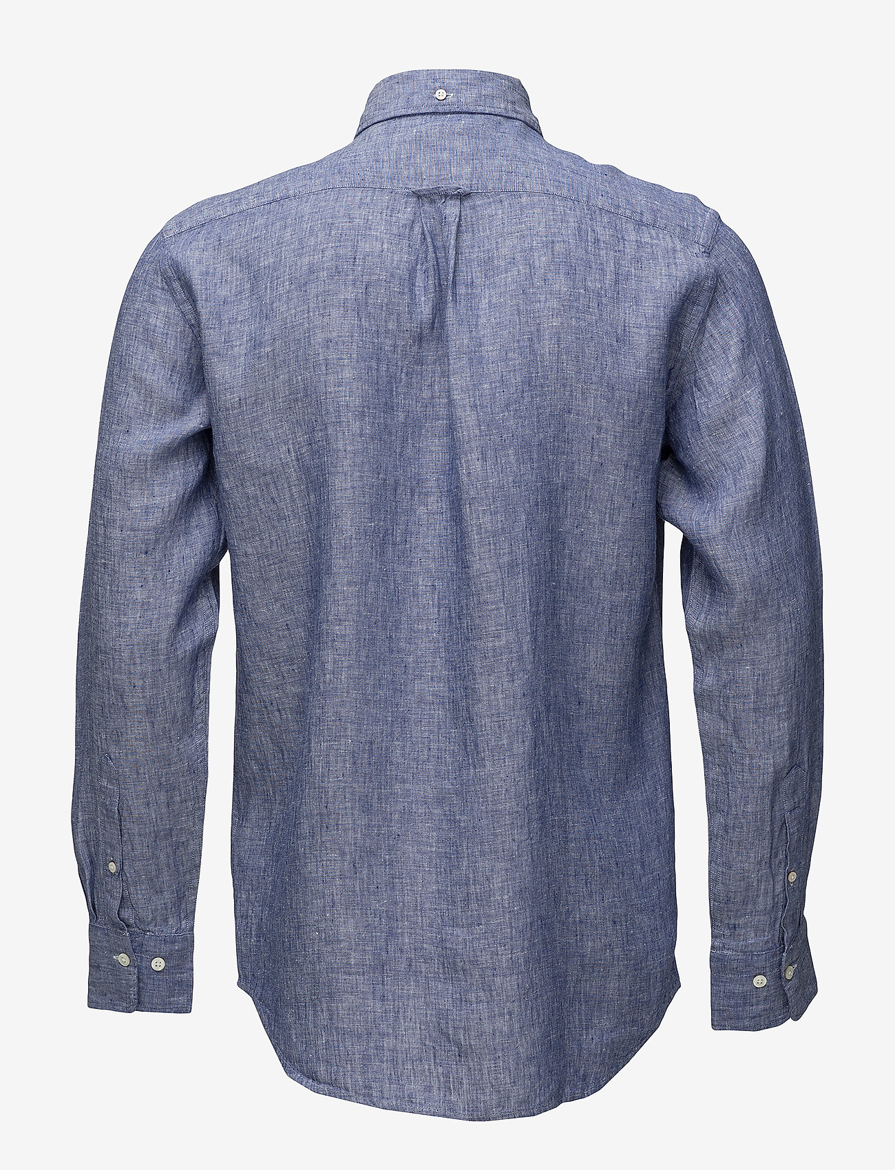Gant - THE LINEN SHIRT REG BD - puuvillapaidat - college blue