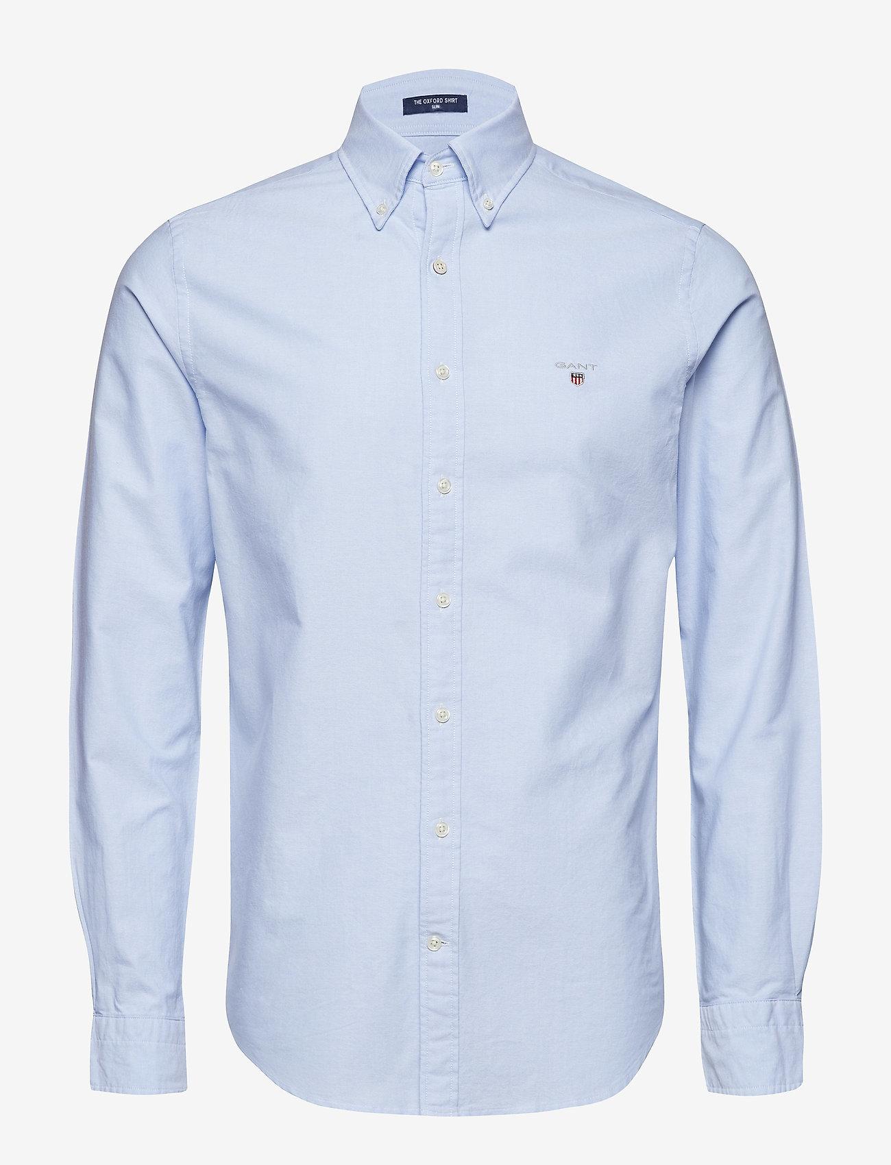 GANT - SLIM OXFORD SHIRT BD - basic shirts - capri blue - 0