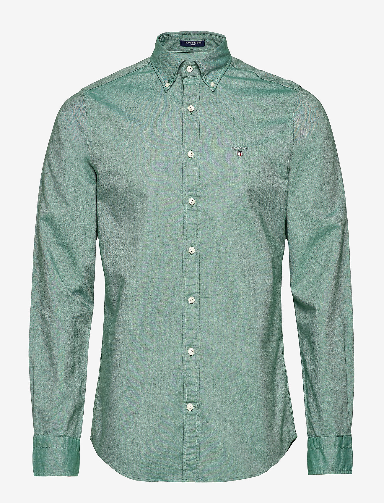 GANT - SLIM OXFORD SHIRT BD - basic shirts - ivy green - 1