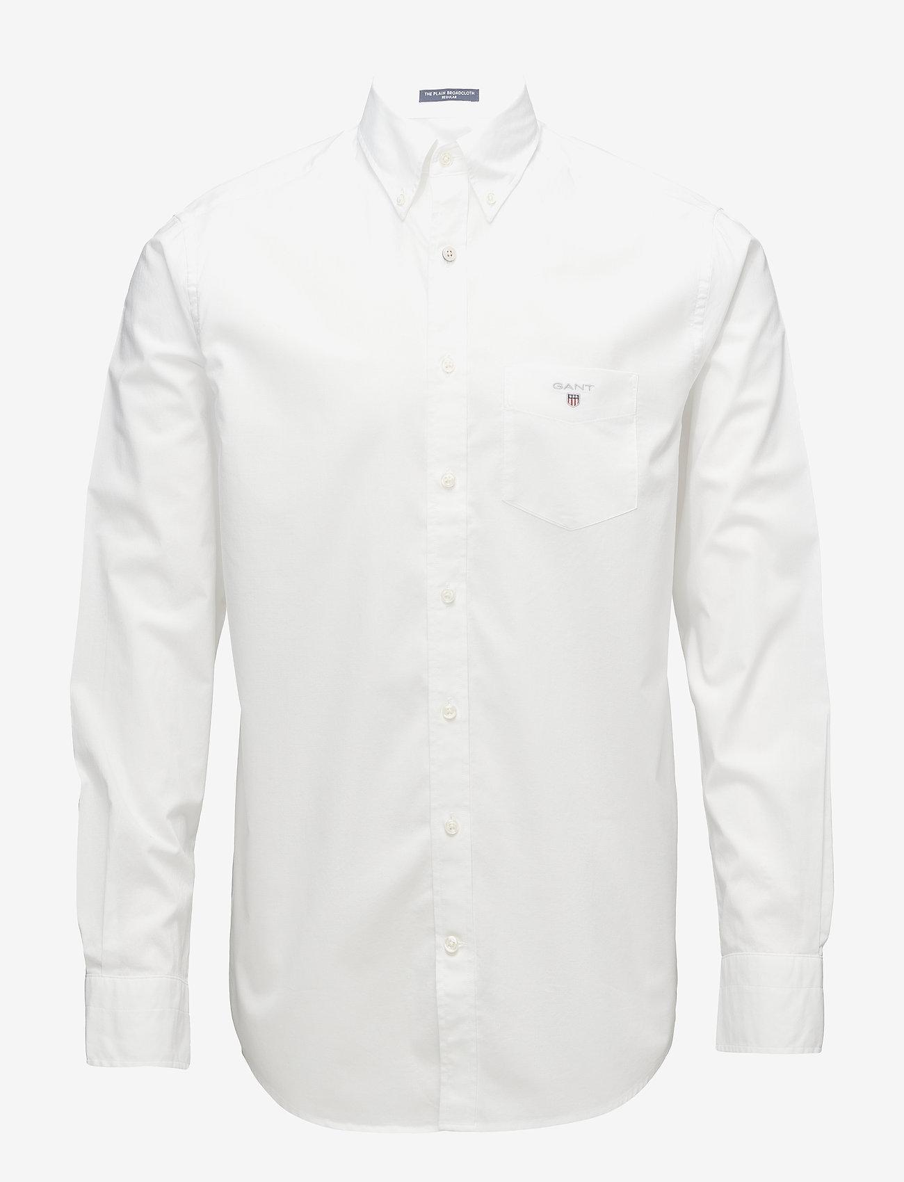 GANT - REG BROADCLOTH BD - oxford shirts - white - 0