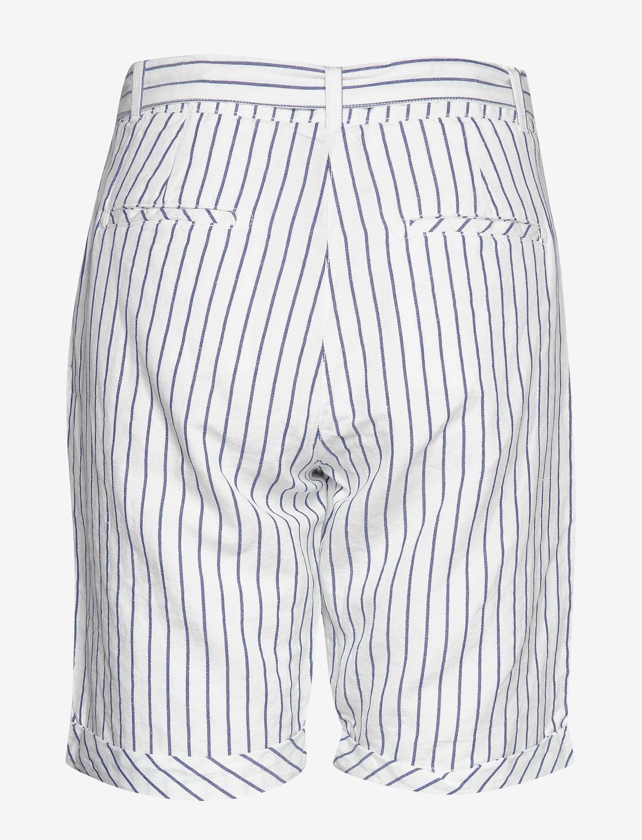 O2. Striped Linen Shorts (Eggshell) - Gant ZUY1fa