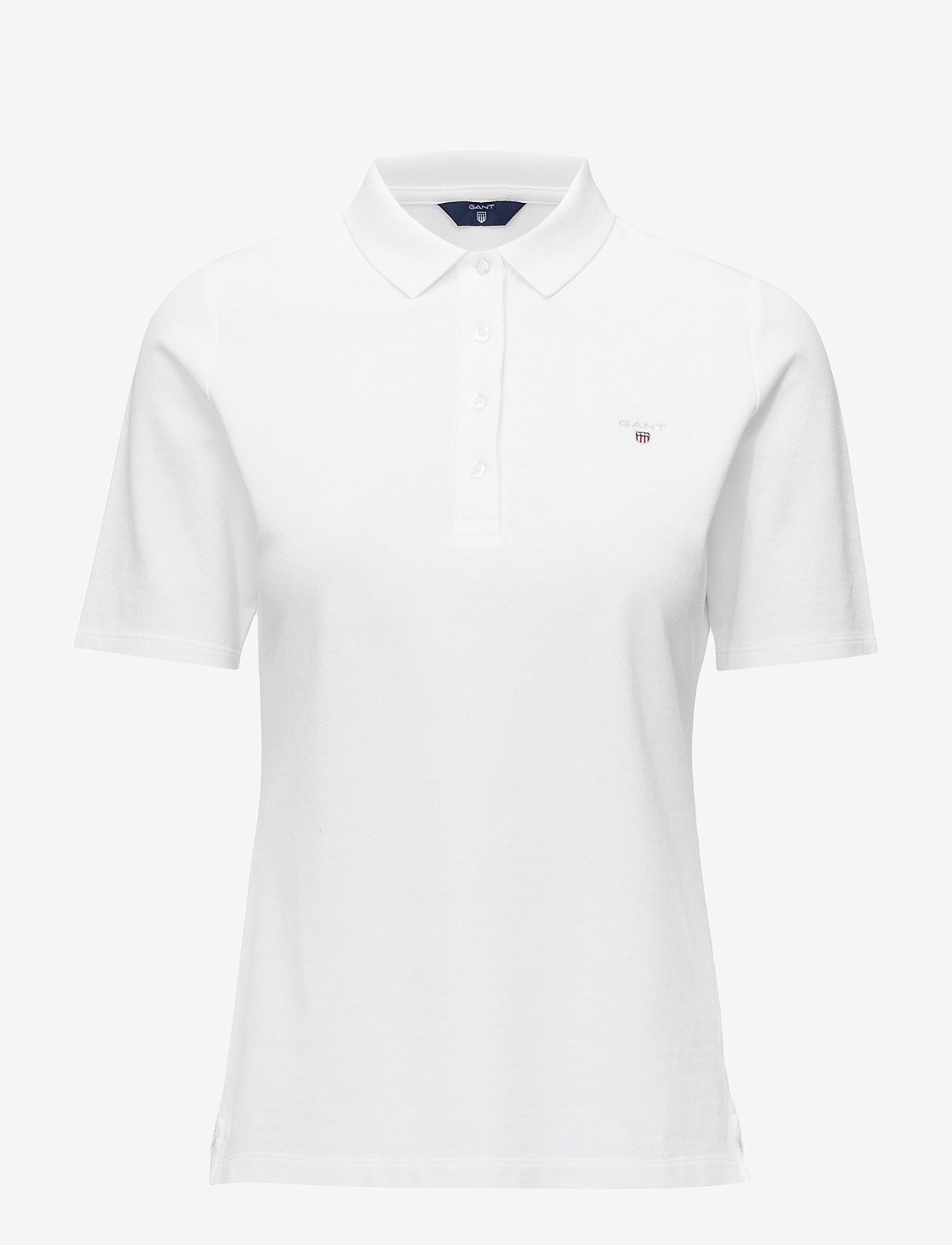 GANT - THE ORIGINAL PIQUE LSS - polo shirts - white - 0