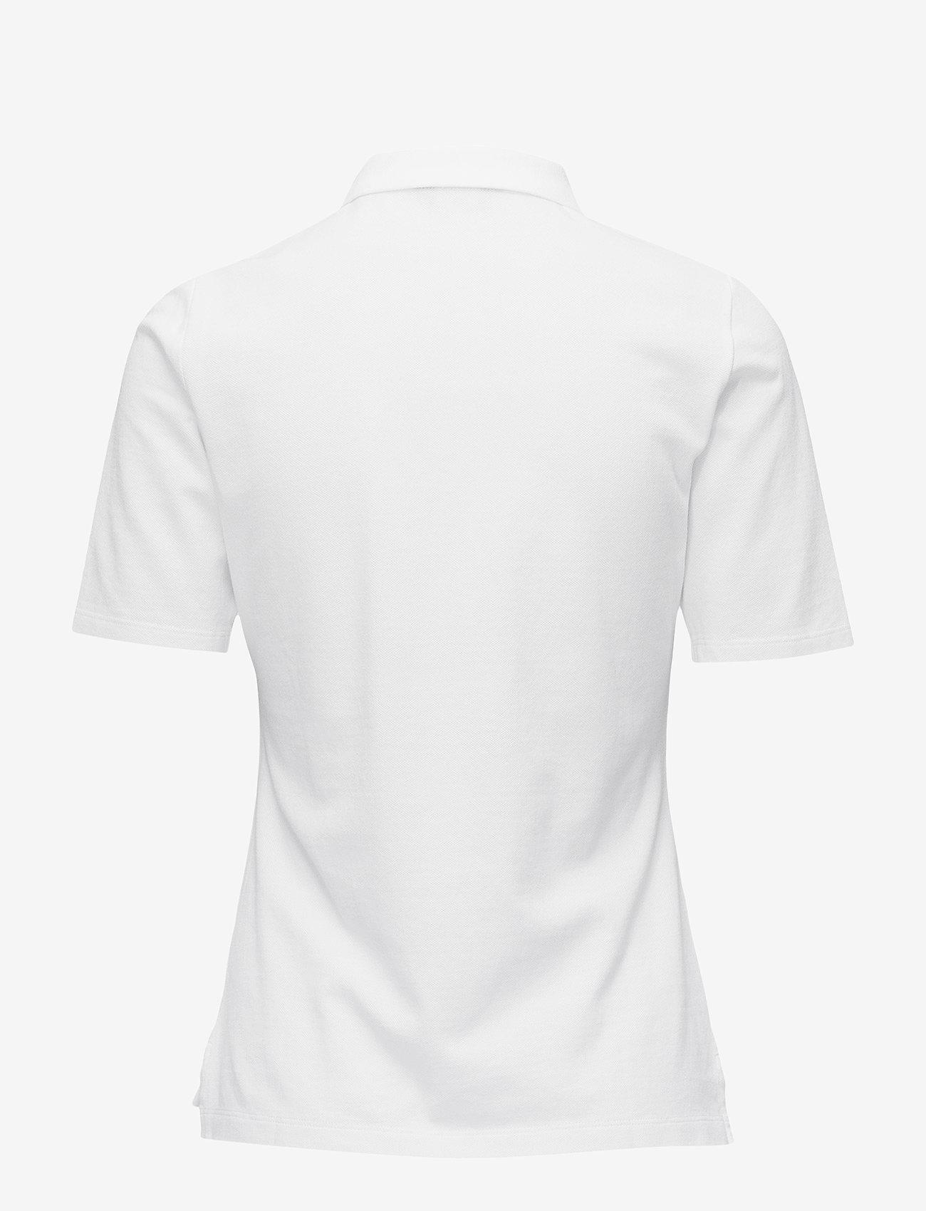 GANT - THE ORIGINAL PIQUE LSS - polo shirts - white - 1