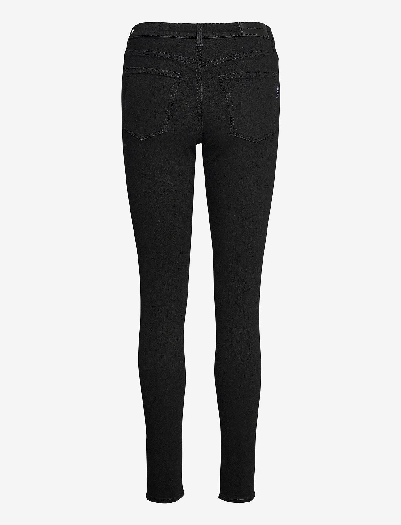 GANT - SKINNY SUPER STRETCH JEANS - skinny jeans - black - 1