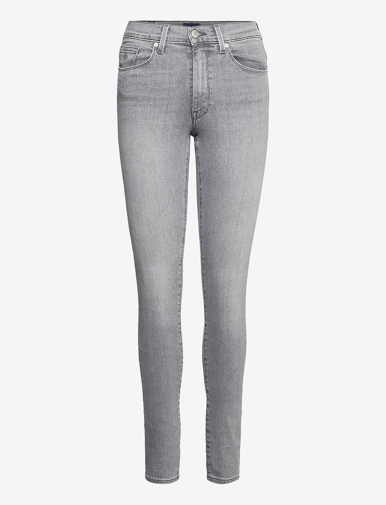 GANT - SKINNY SUPER STRETCH JEANS - skinny jeans - grey worn in - 0