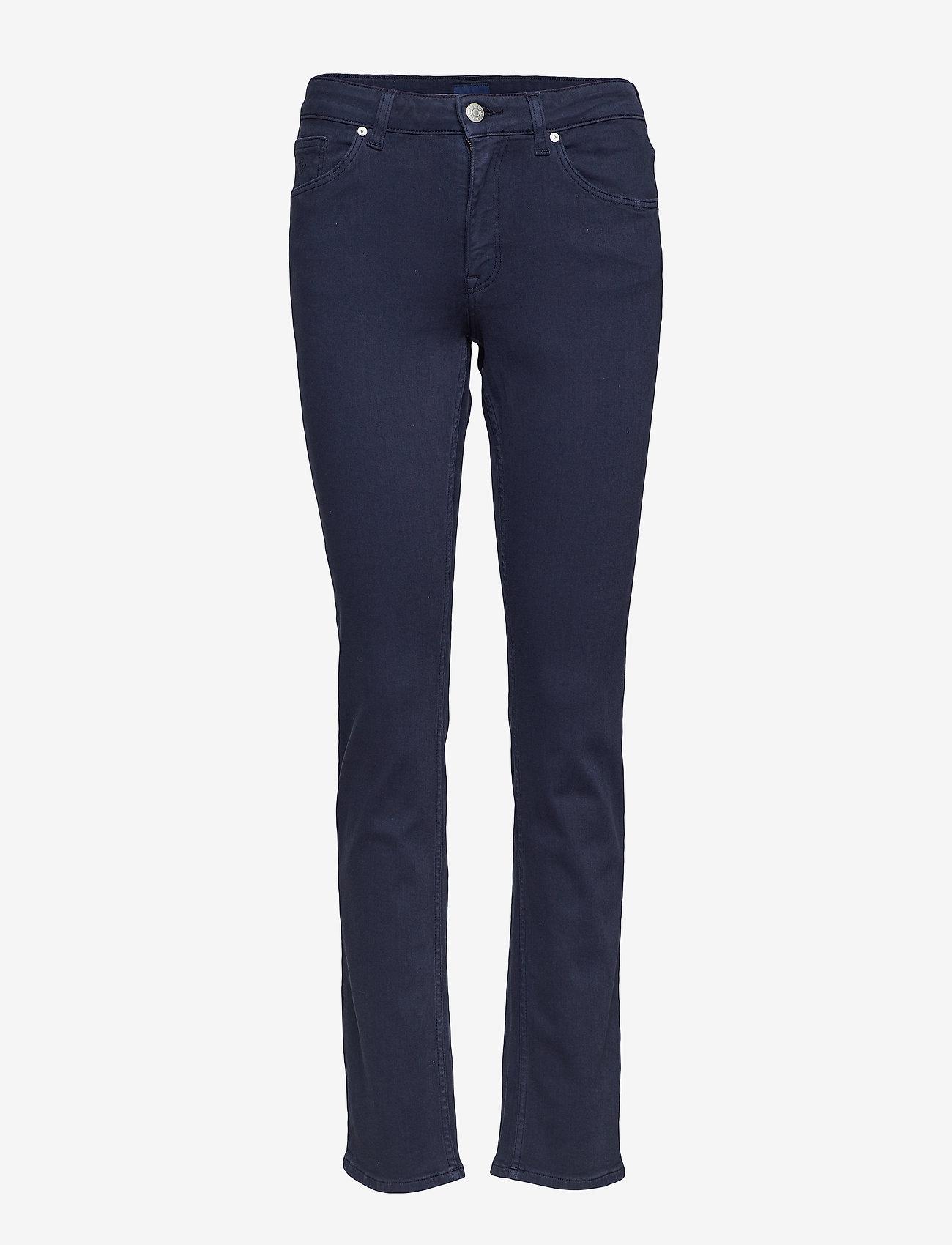 GANT - SLIM TWILL JEANS - slim jeans - marine - 0