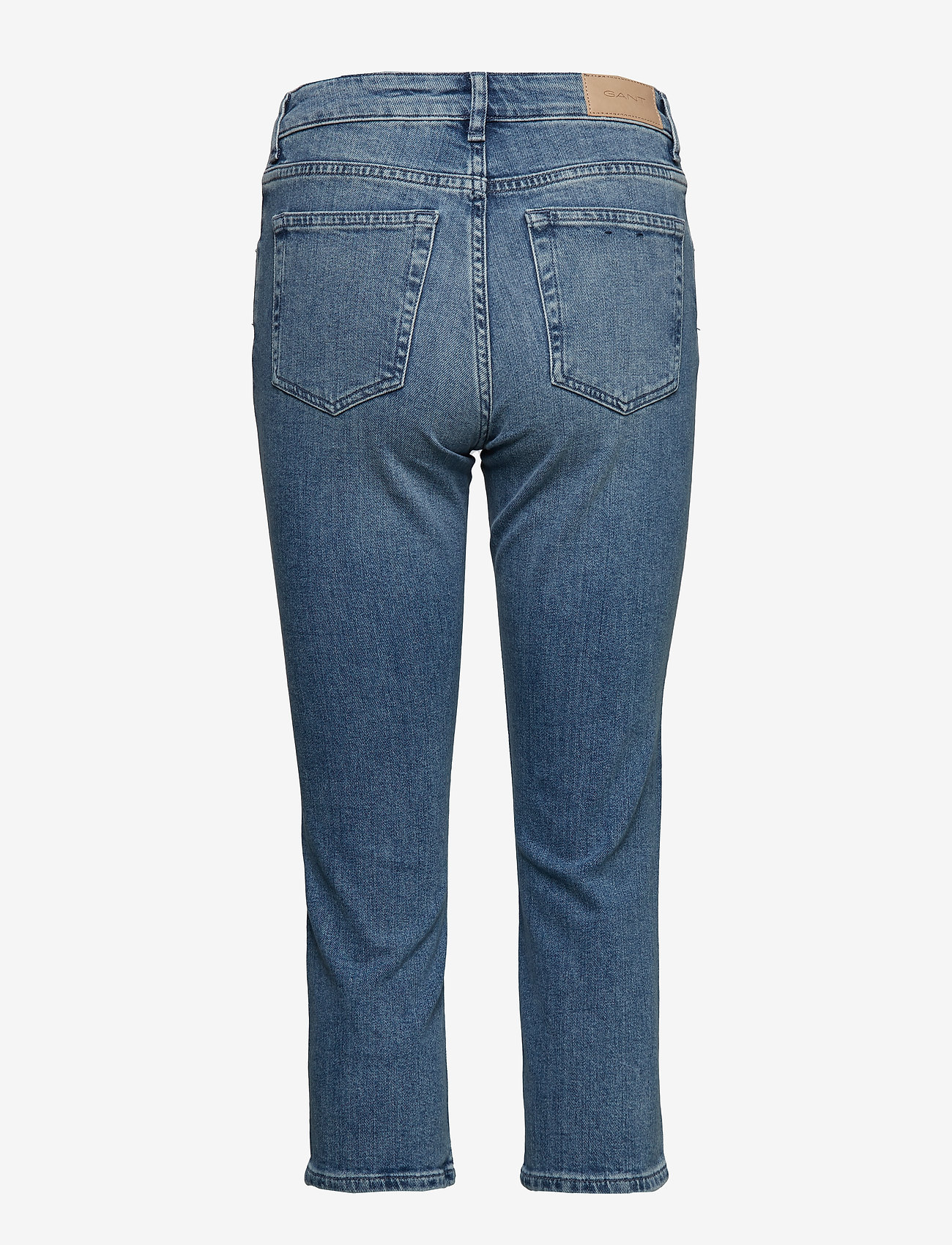 Gant - D1. SLIM BLUE CAPRI DENIM - straight jeans - light blue worn in