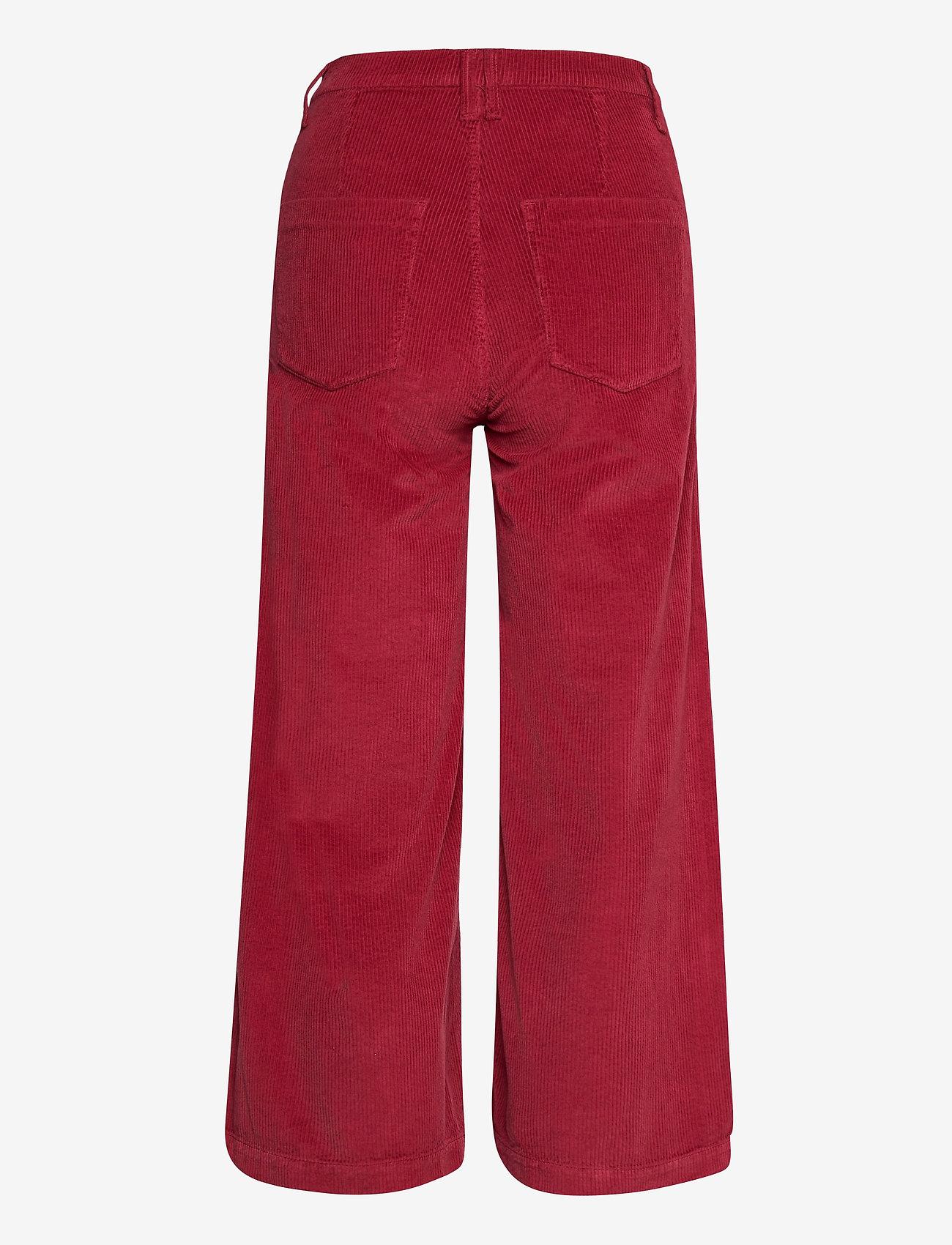 GANT - O1. CULOTTES WIDE CORD JEANS - bukser med brede ben - mahogny red - 1